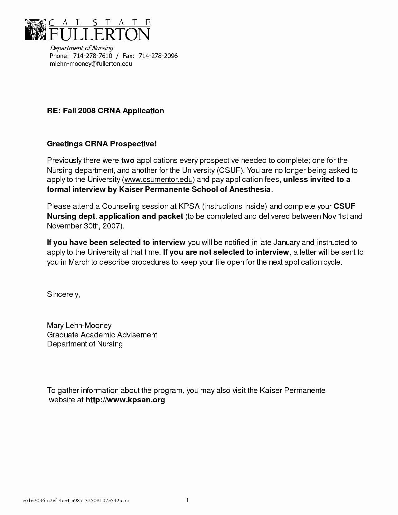 Nursing School Recommendation Letter Template - High School Re Mendation Letter Template Unique Letter Re