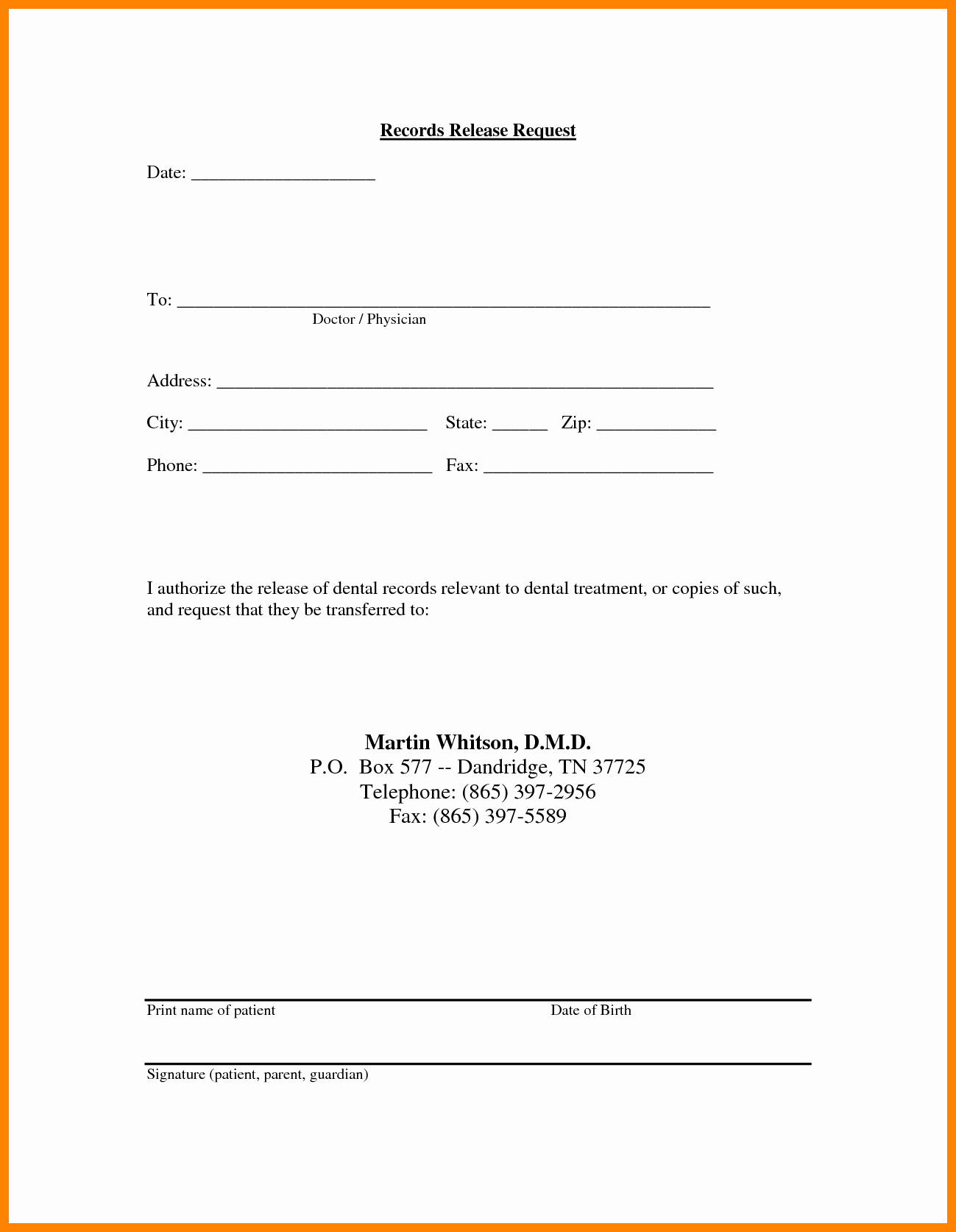Medical Records Release Forms | Medical Records Release Letter Template Samples Letter Template