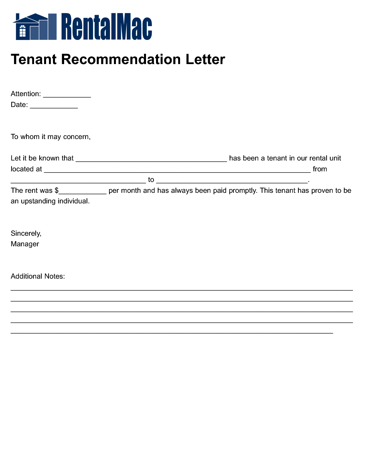 Rental Reference Letter Template - Housing Reference Letter Letter format formal Sample
