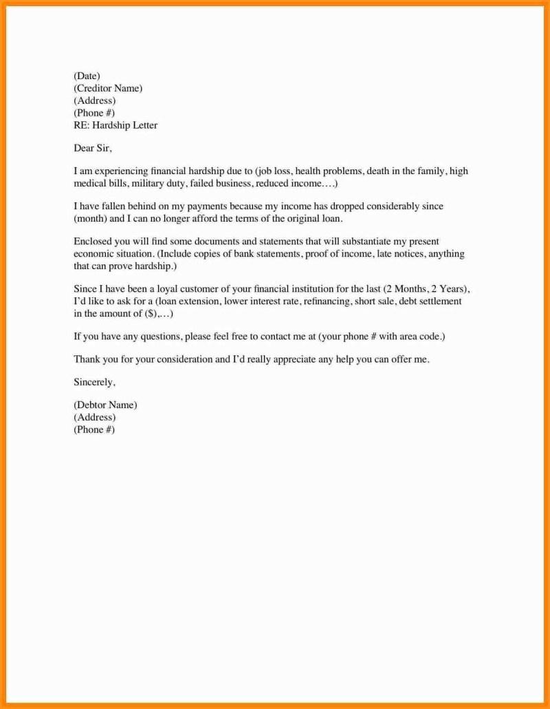 401k Hardship Letter Template - How Do I Write A Hardship Letter