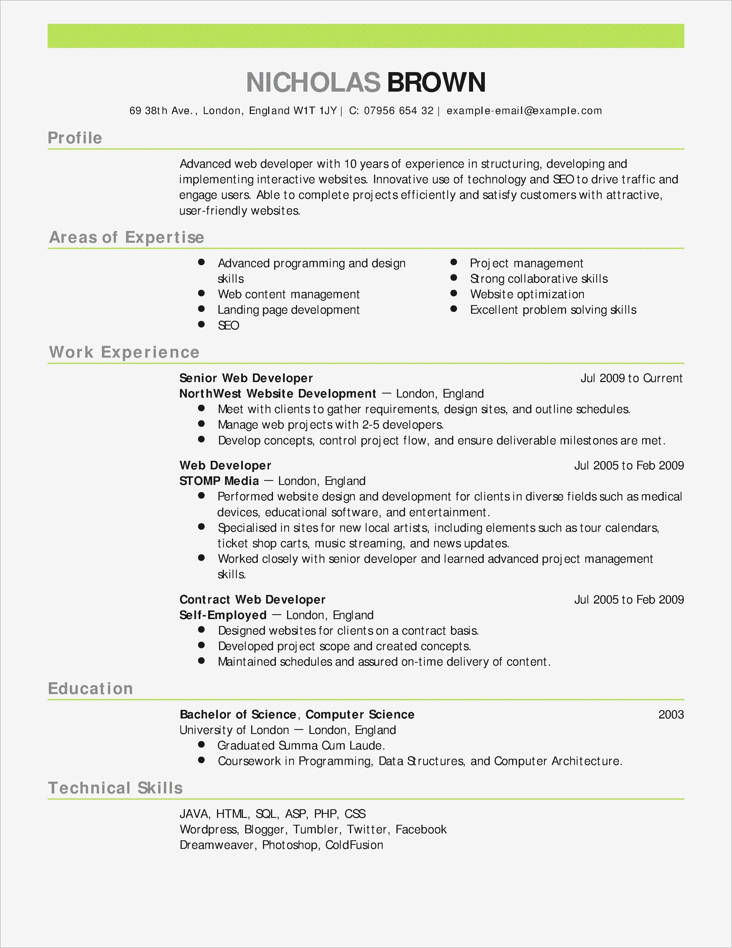 Email Template for Letter Of Recommendation - How to format A Job Resume Reference Luxury Examples Resumes