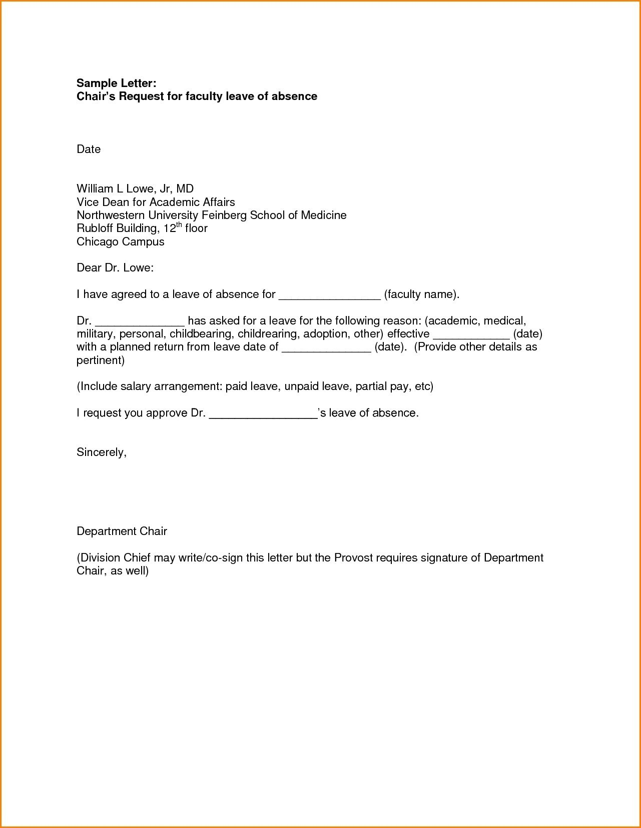 Personal Leave Of Absence Letter Template - How to format A Leave Absence Letter New Leave Absence Letter