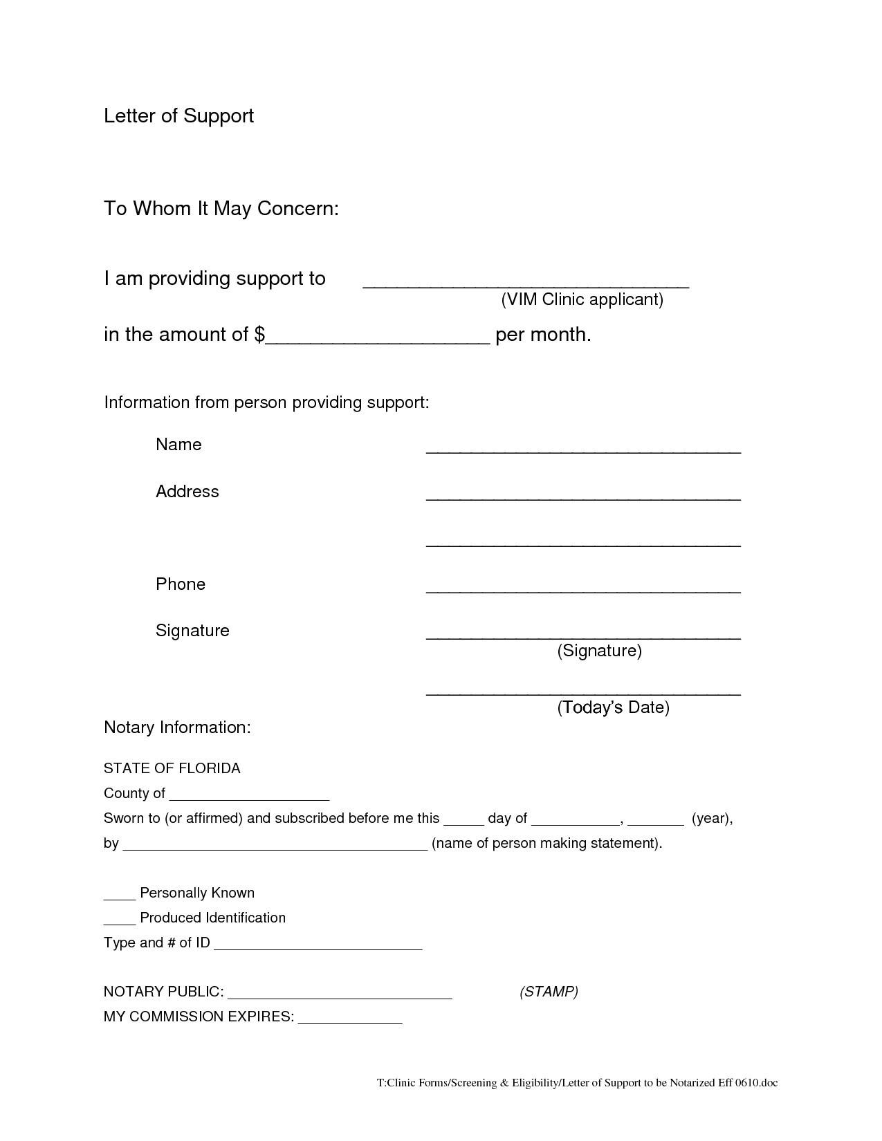 Printable Notarized Letter Of Residency Template - How to Notarize A Letter Printable Notarized Letter Residency