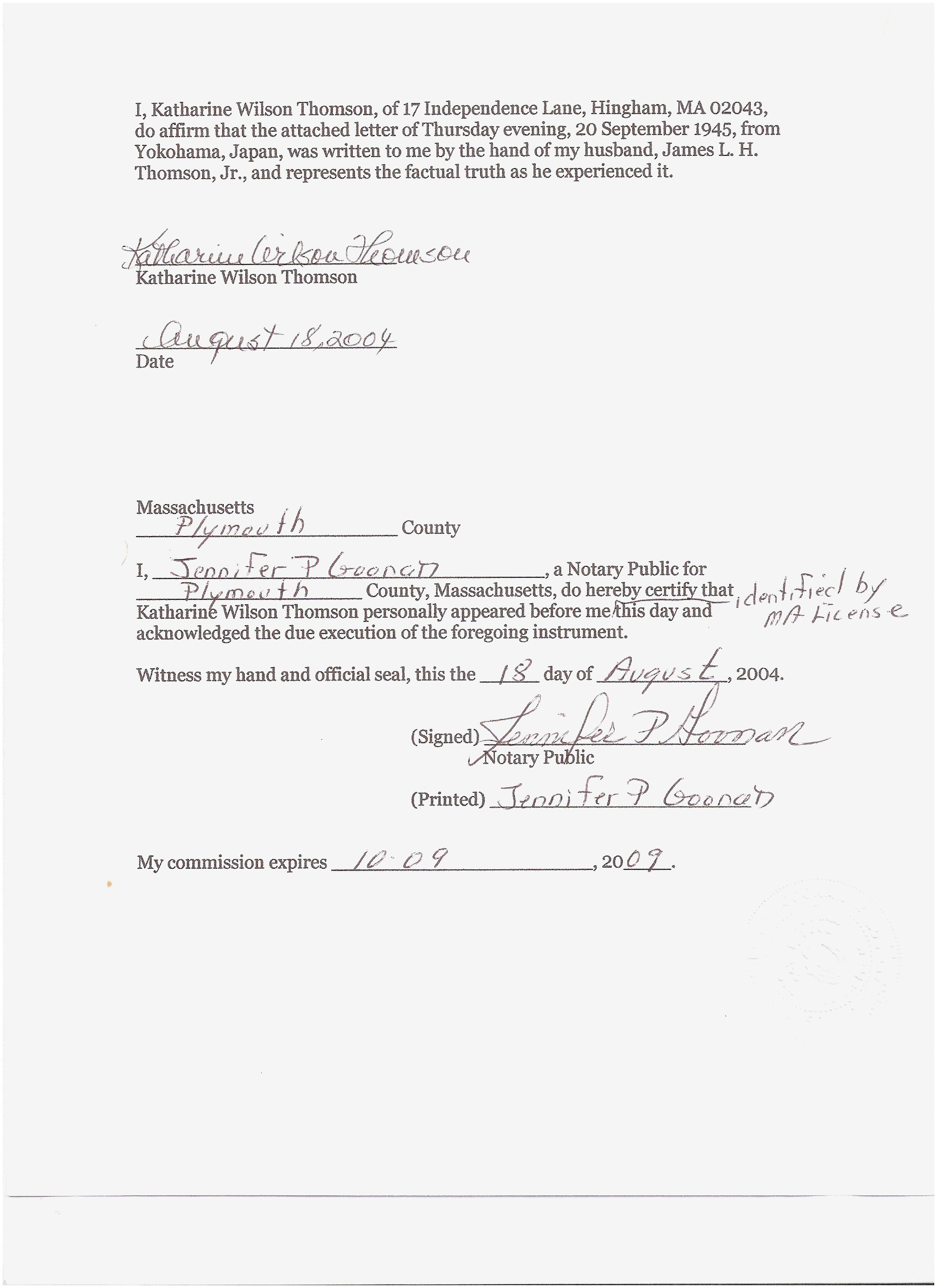 printable notarized letter of residency template collection | letter