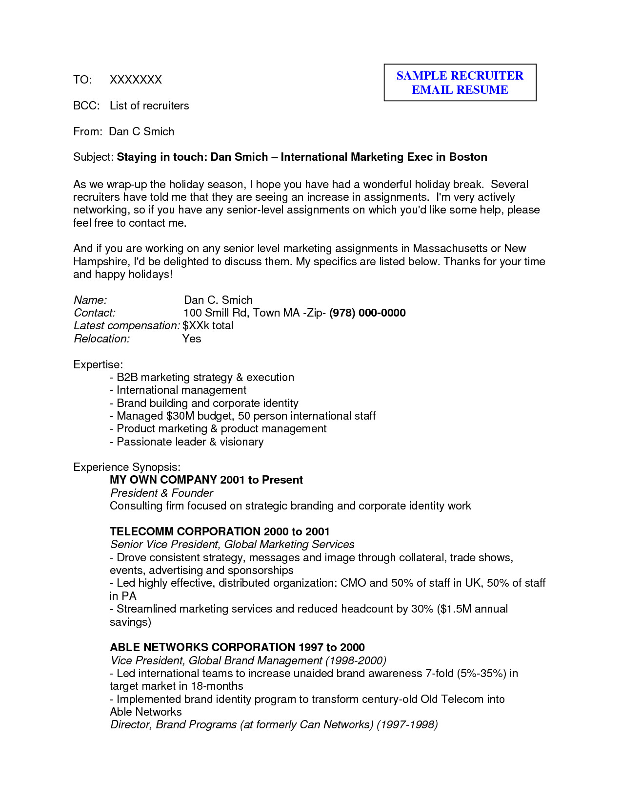 Free Holiday Letter Template - How to Send A Resume 22 Cover Letter Email format Sending Sample