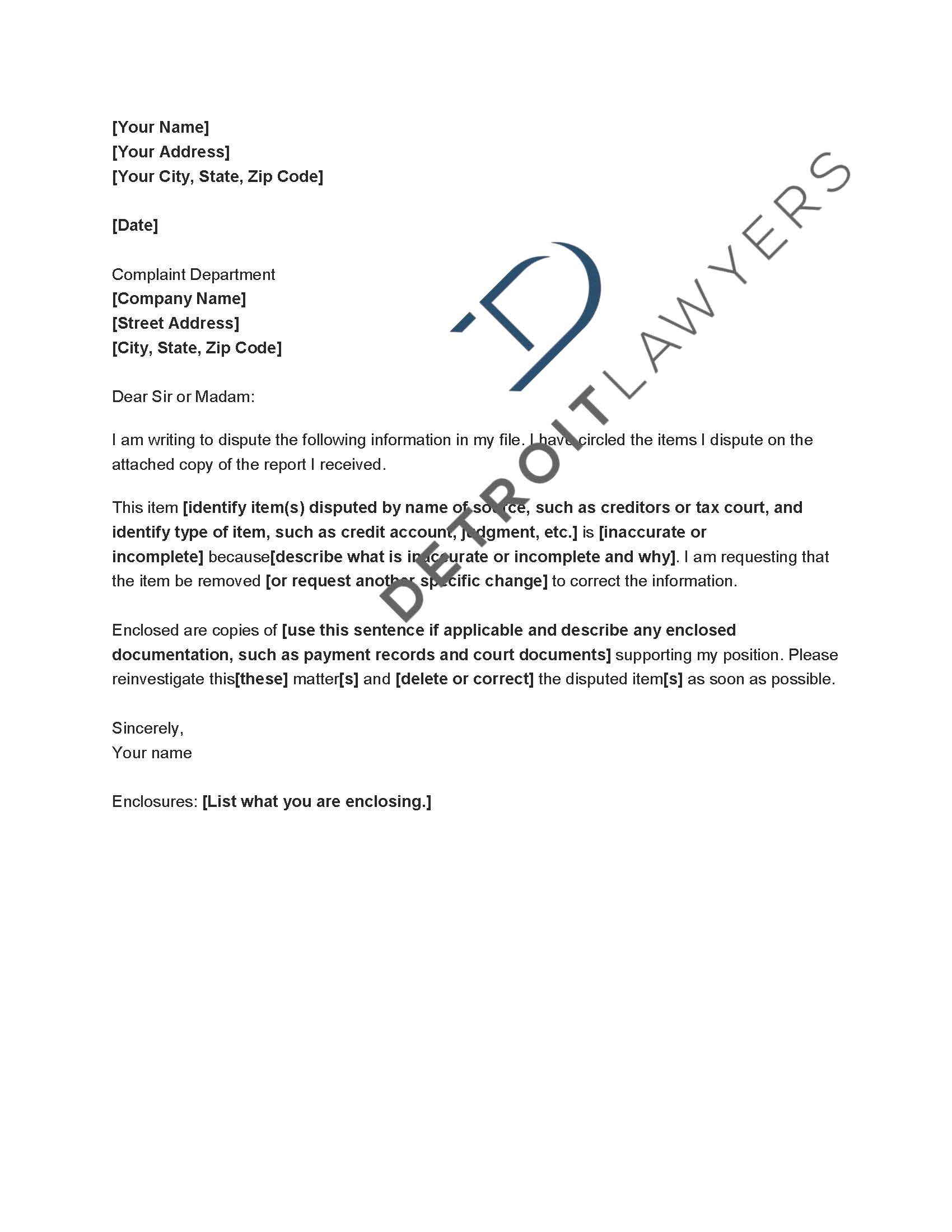 Credit Inquiry Removal Letter Template - How to Write A Dispute Letter to Credit Bureau Image Collections