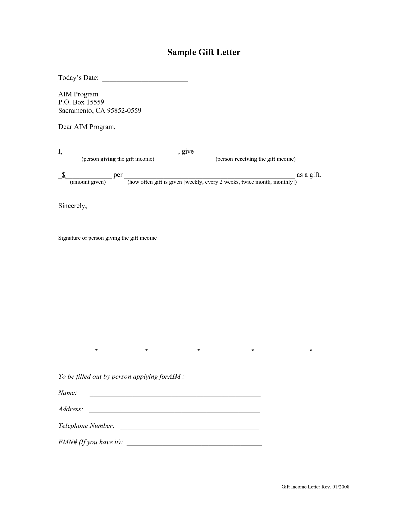 Gift Letter Template for Home Loan - How to Write A Gift Letter for Mortgage Image Collections Letter