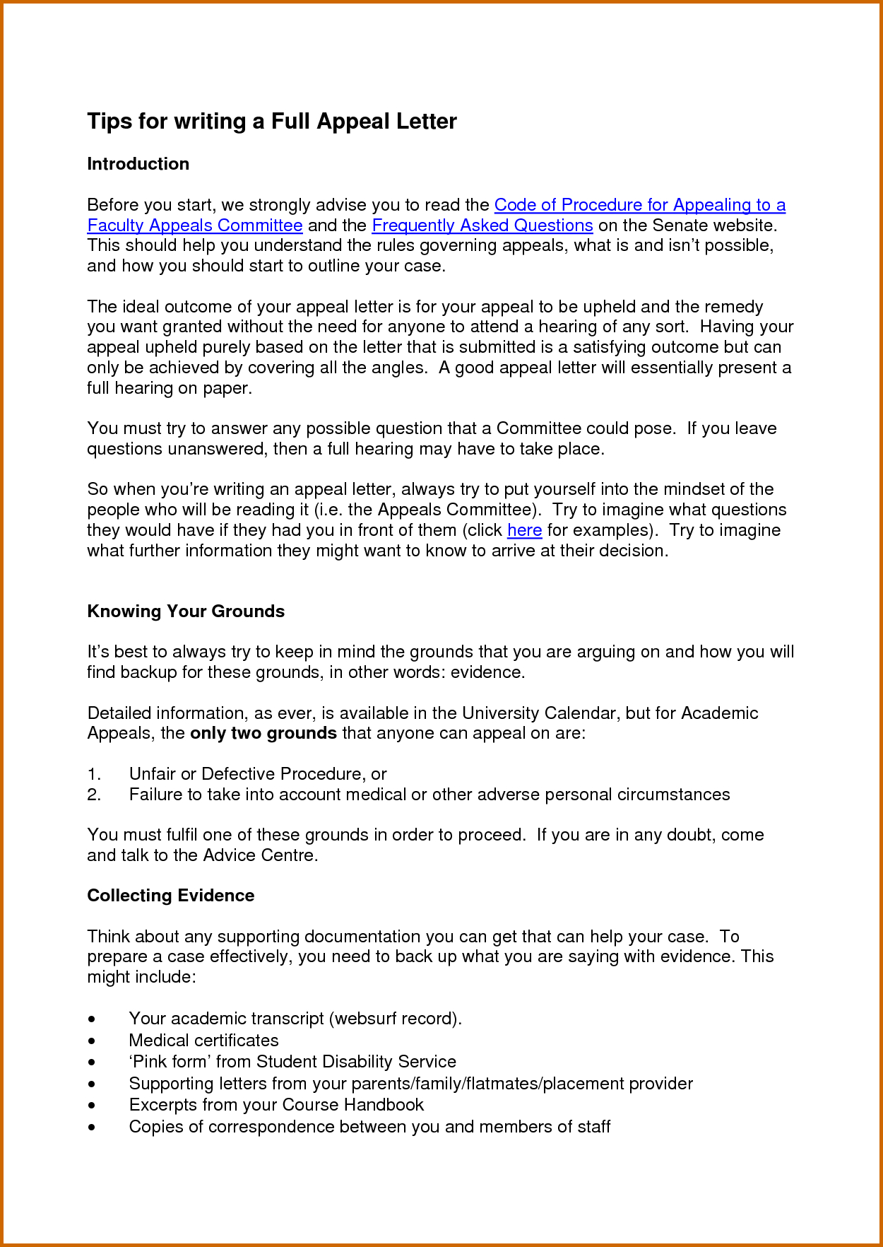 10 Day Appeal Letter Template - How to Write A Good Appeal Letter for Secondary School