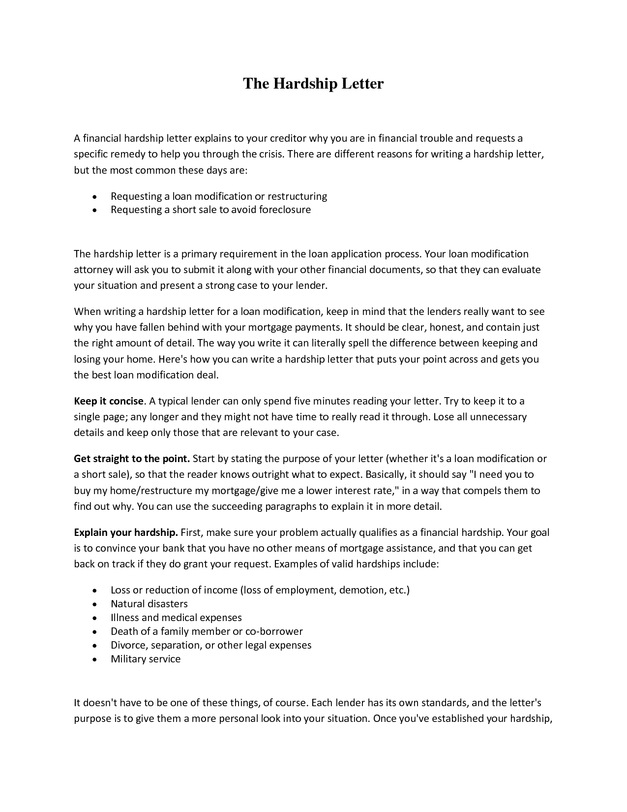 Short Sale Hardship Letter Template - How to Write A Hardship Letter for A Short Sale Letter