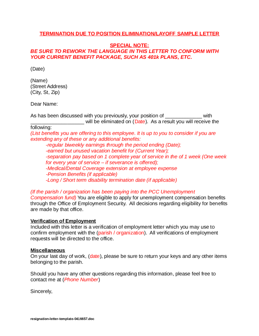 Layoff Letter Template Samples Letter Template Collection