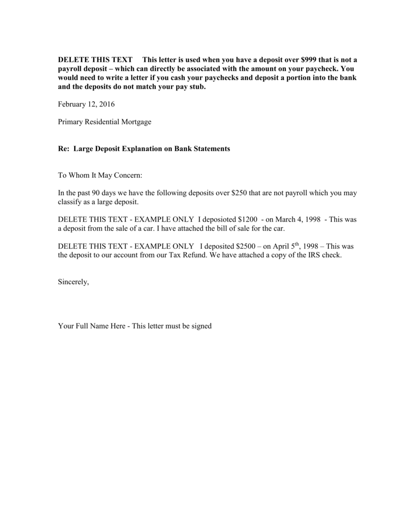 Cash Out Refinance Letter Of Explanation Template - How to Write A Letter Explanation for Mortgage Choice Image