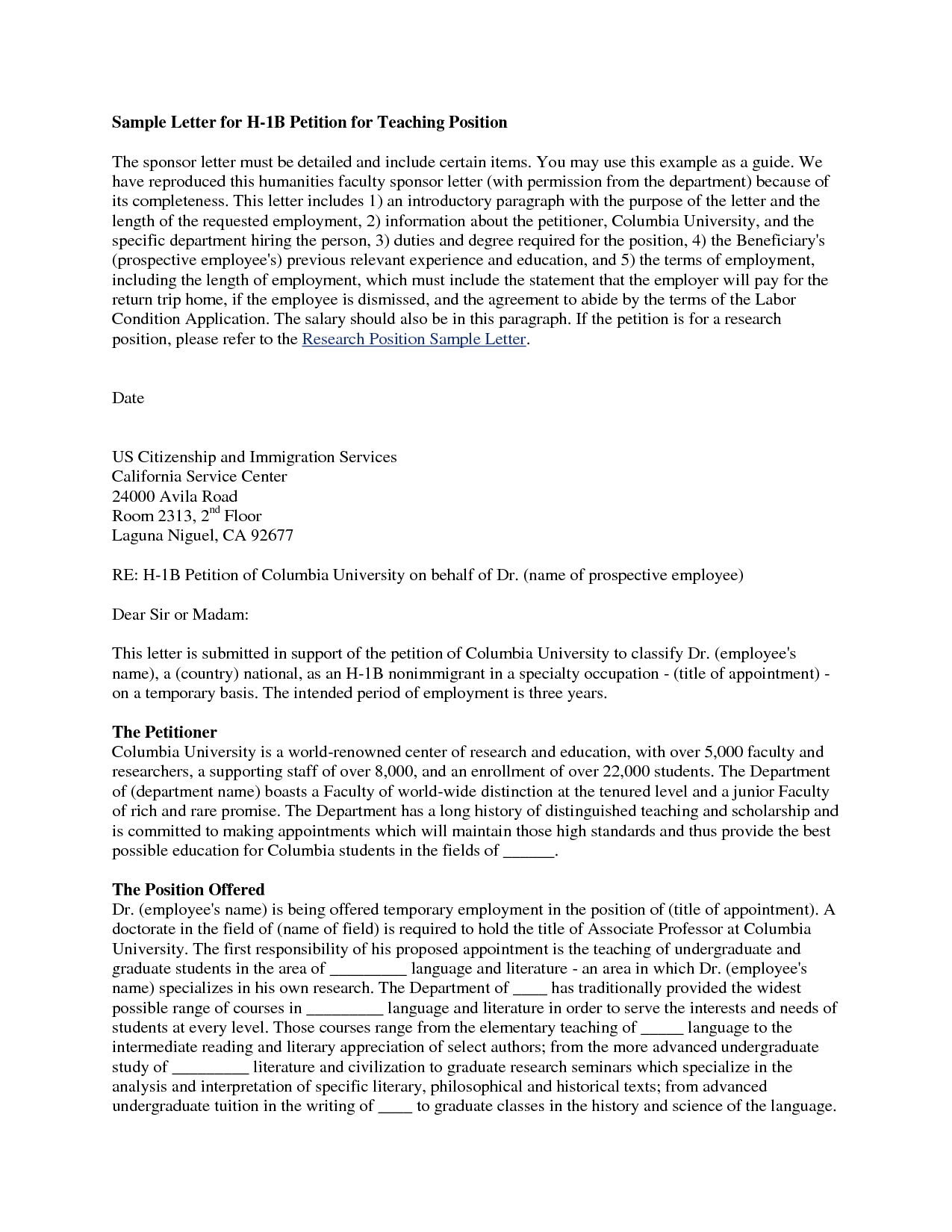 formal petition letter template samples  letter template