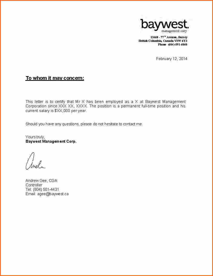 Proof Of Employment and Salary Letter Template - How to Write A Letter Self Employment Image Collections Letter