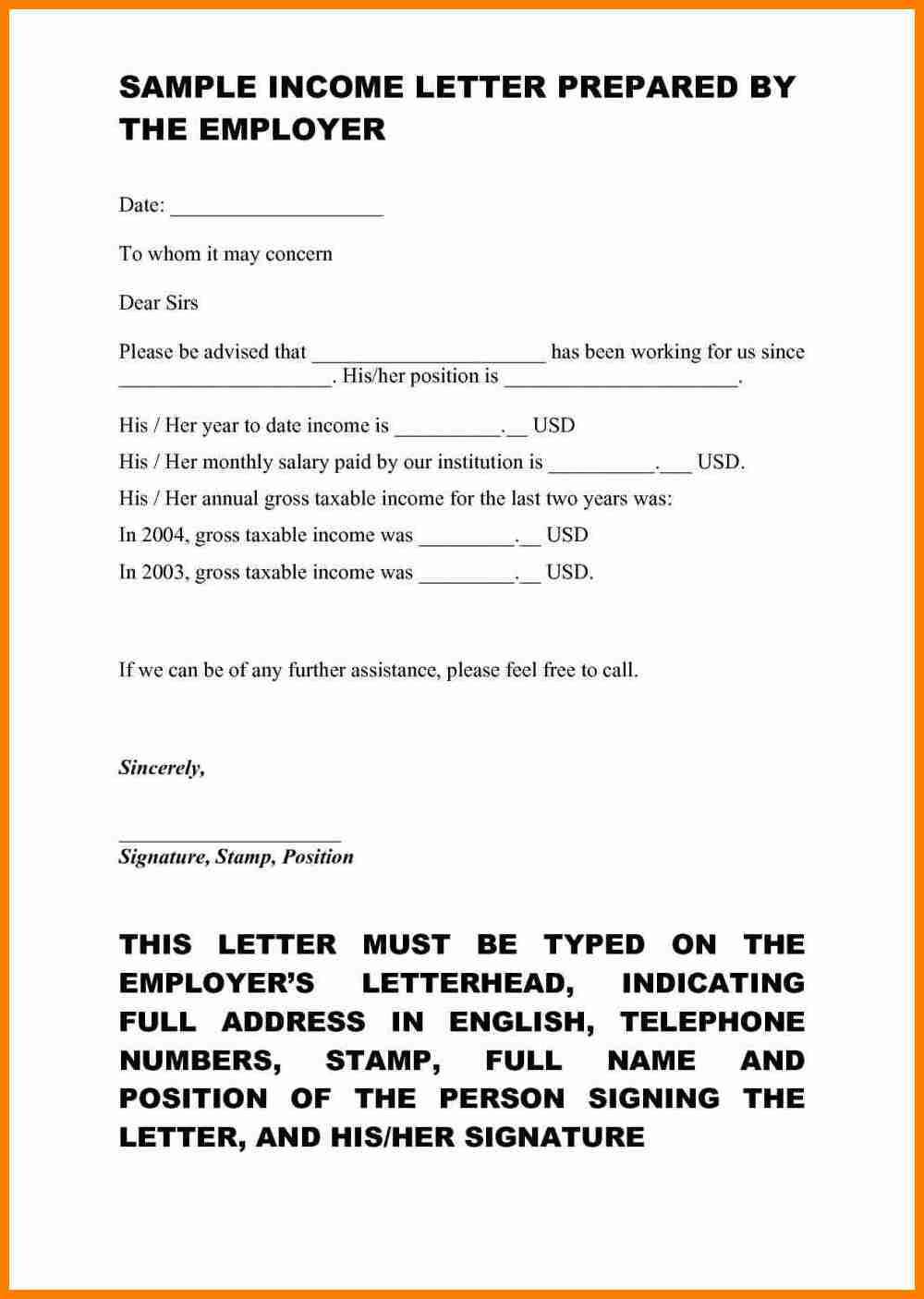 Proof Of No Income Letter Template - How to Write A Letter Self Employment Image Collections Letter