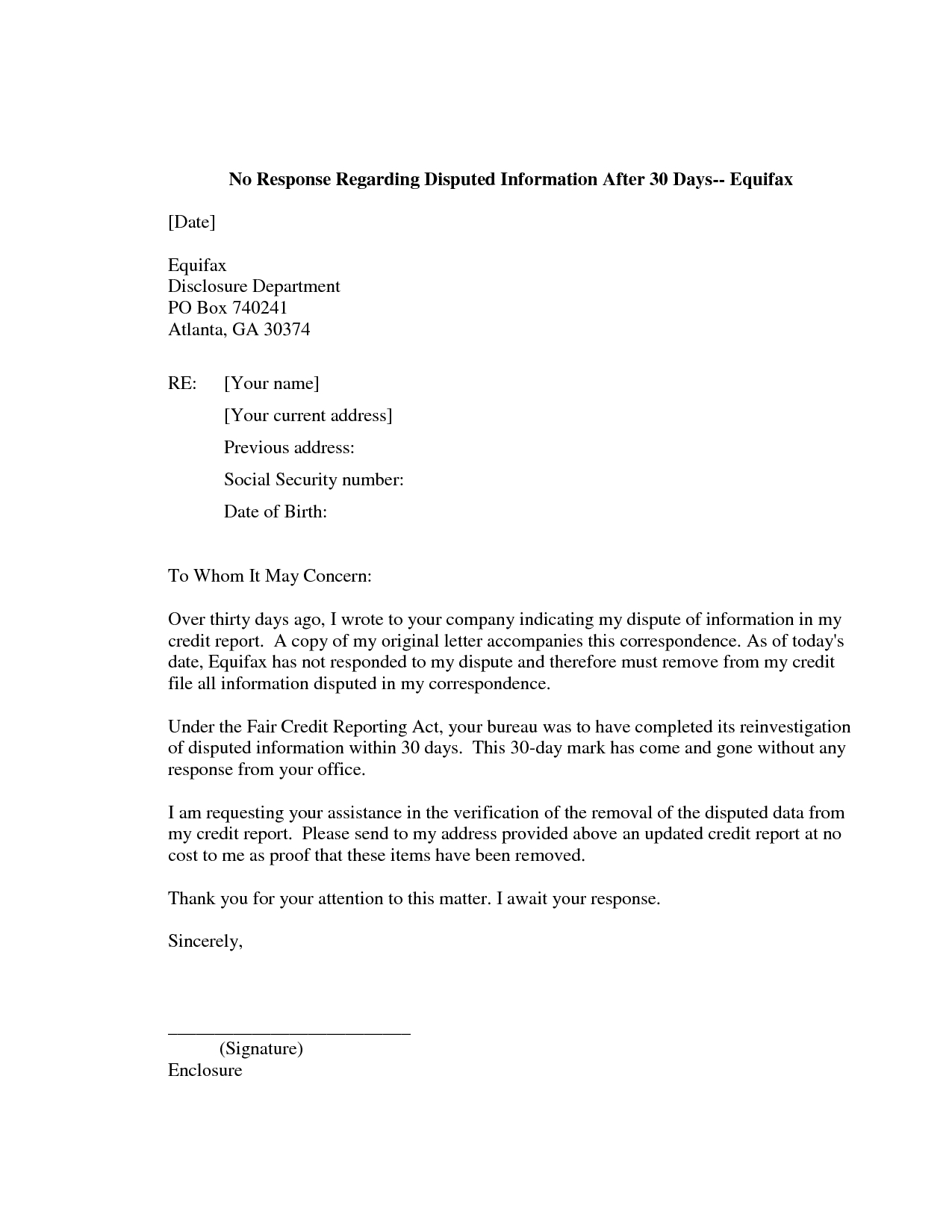609 Dispute Letter to Credit Bureau Template - How to Write A Letter to Credit Bureau Letter format formal