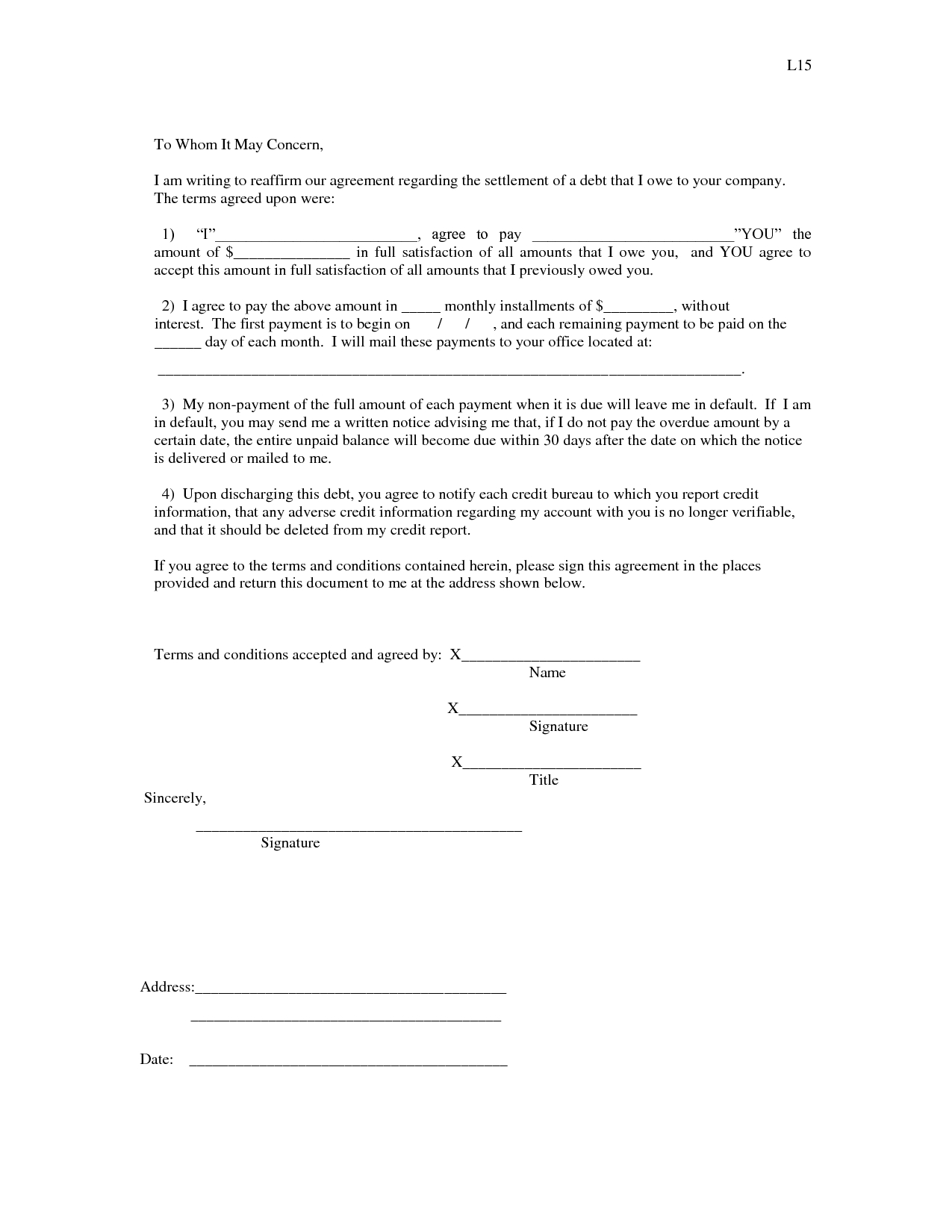 I Owe You Letter Template - How to Write A Letter when someone Owes You Money Letter