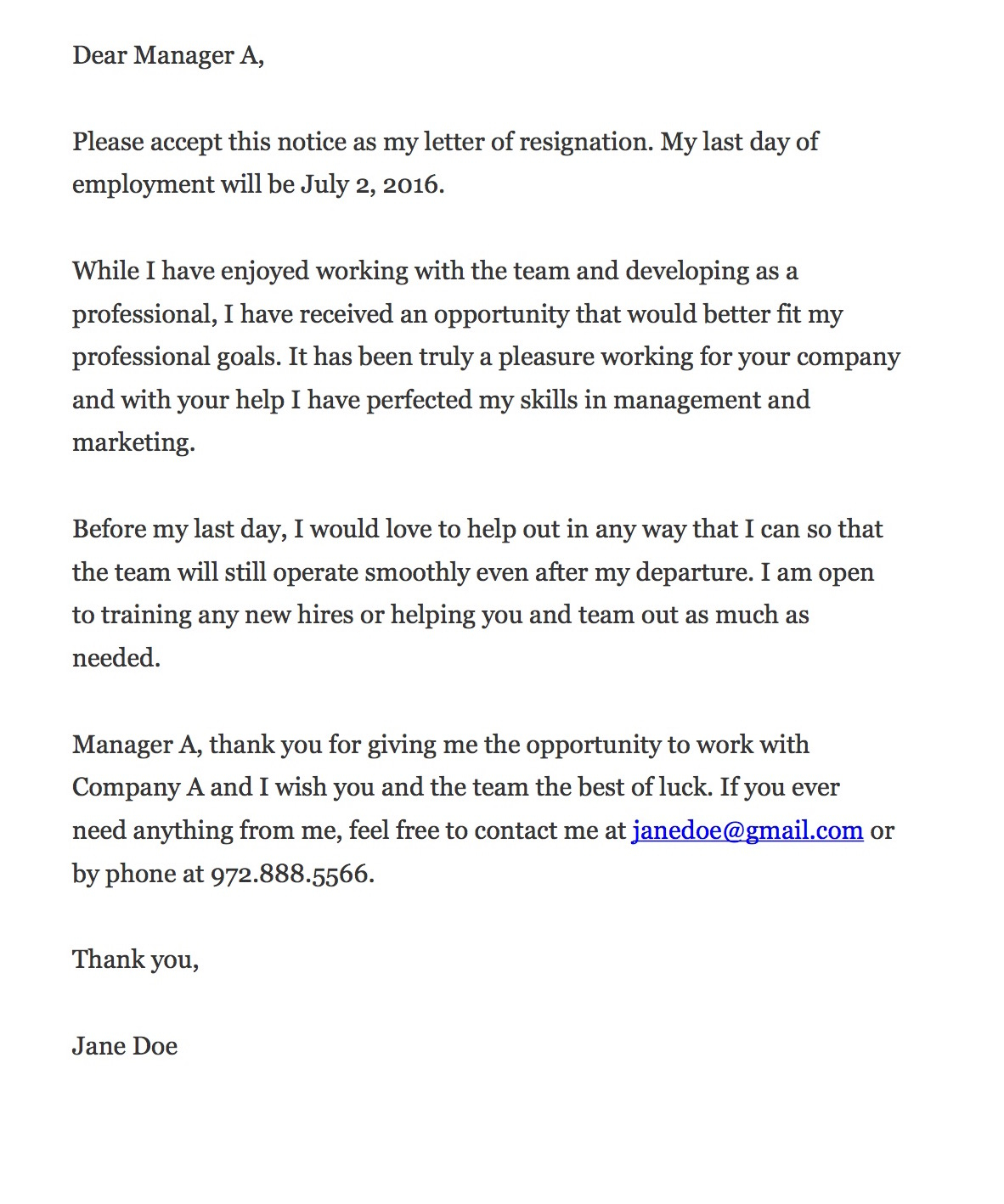 Free Expired Listing Letter Template - How to Write A Resignation Letter