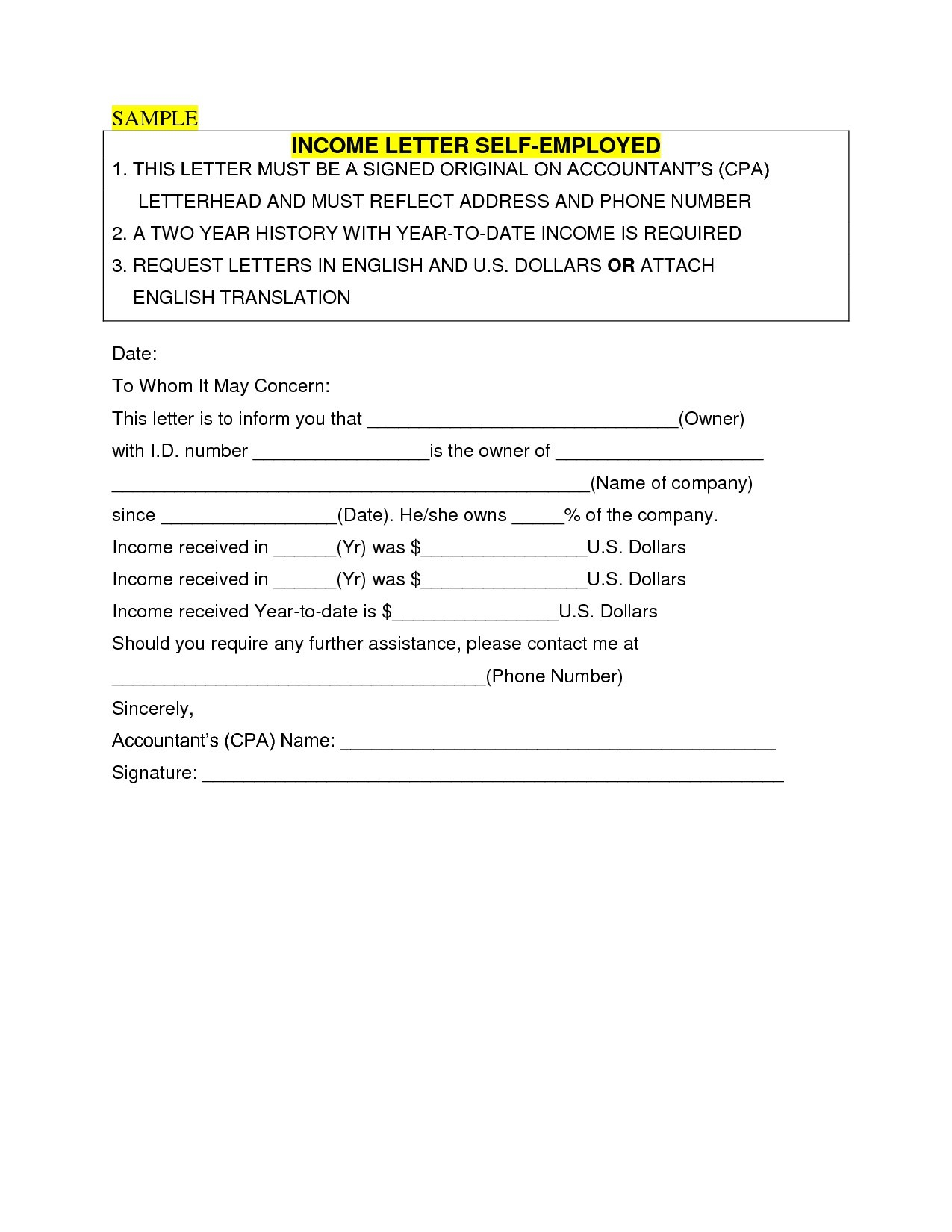 Self Employment Verification Letter Template - How to Write A Self Employment Letter Sample New Sample In E