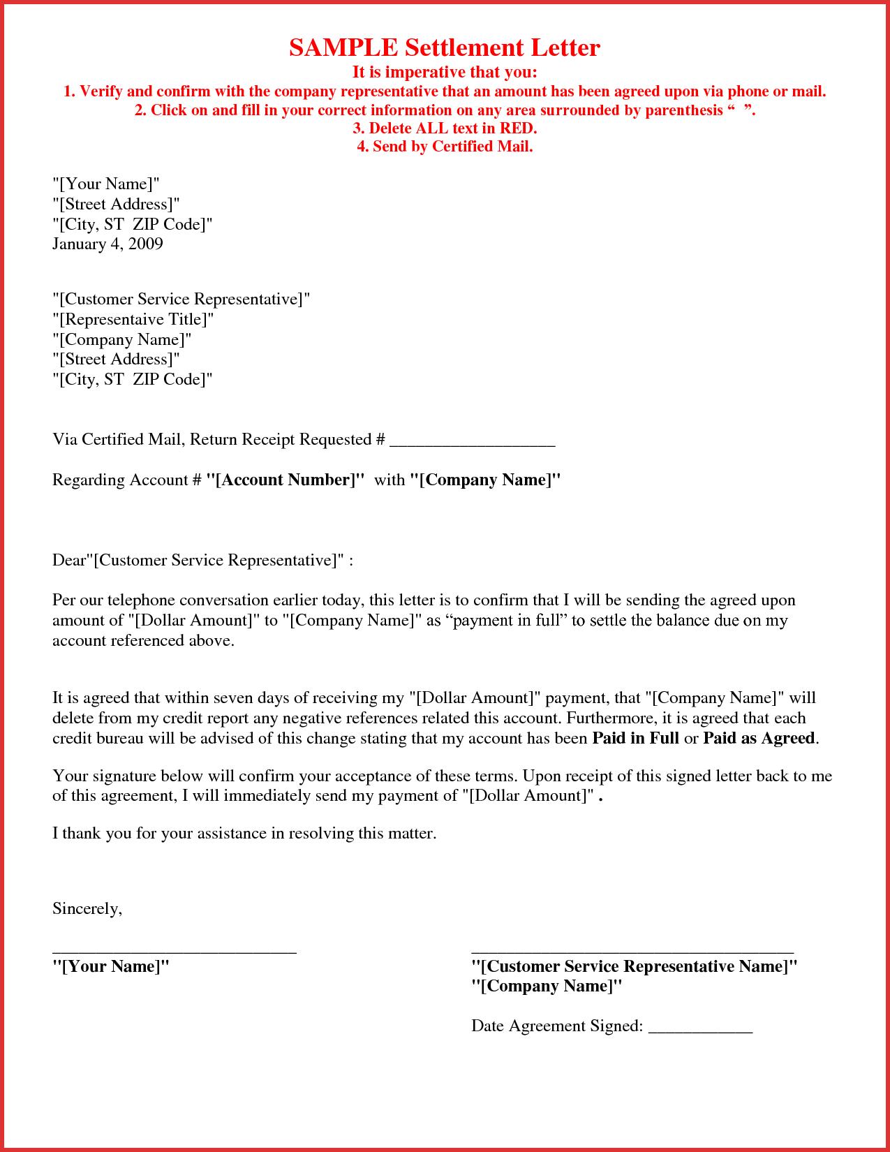 Debt Settlement Agreement Letter Template - How to Write A Settlement Letter Letter format formal Sample