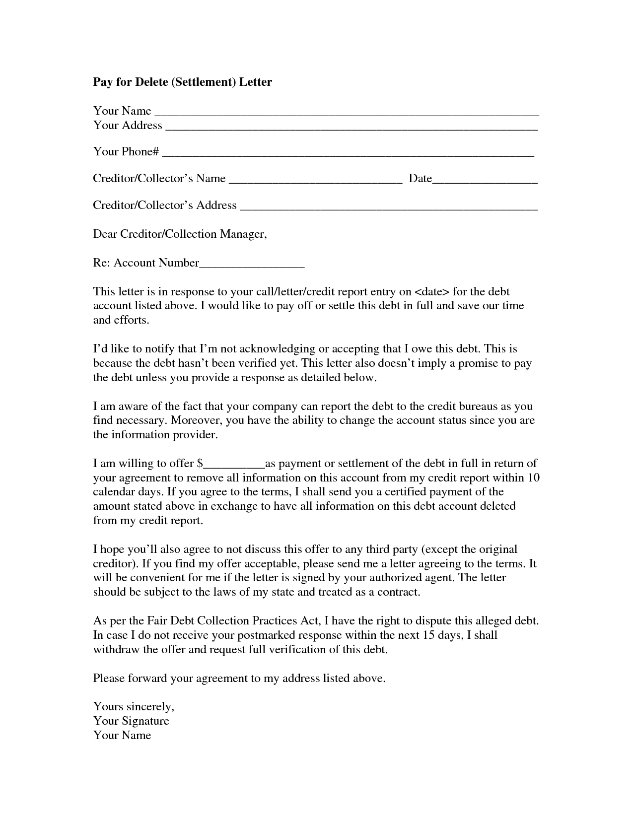 Settlement Offer Letter Template - How to Write A Settlement Letter Letter format formal Sample