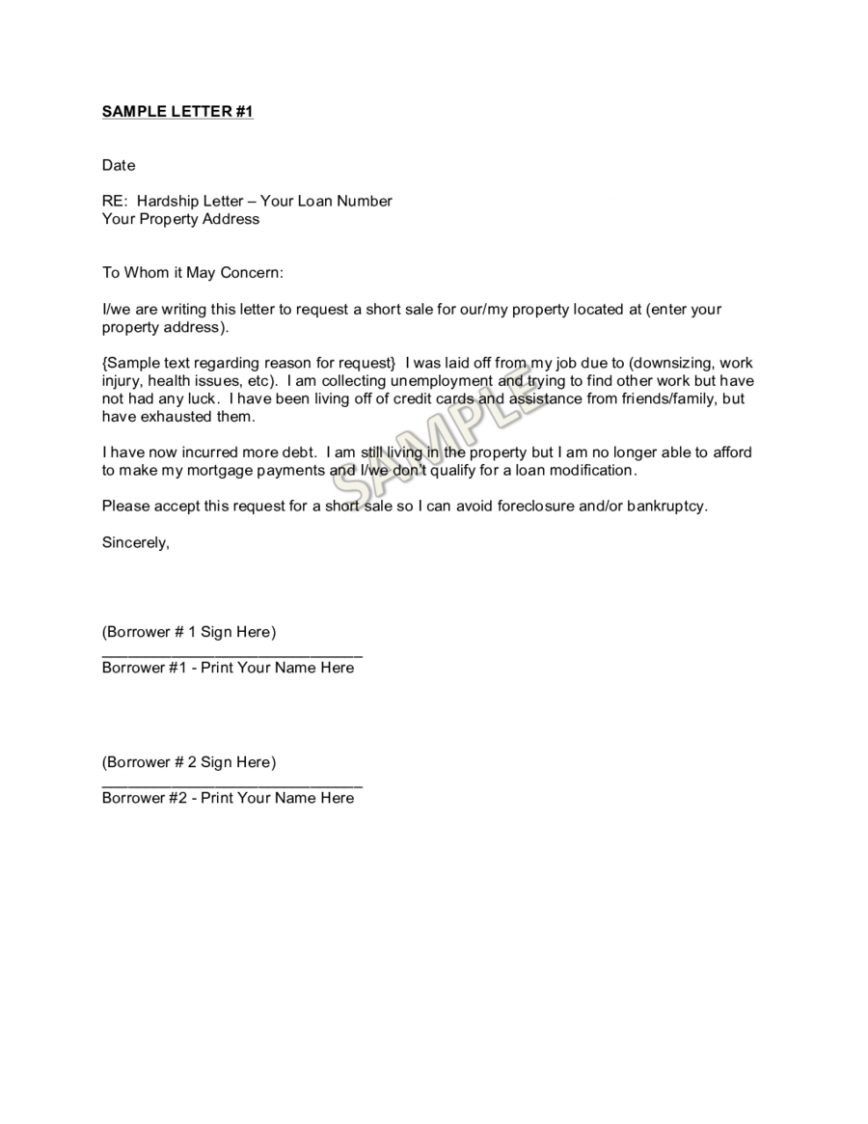 Short Sale Hardship Letter Template - How to Write A Short Sale Hardship Letter Choice Image Letter