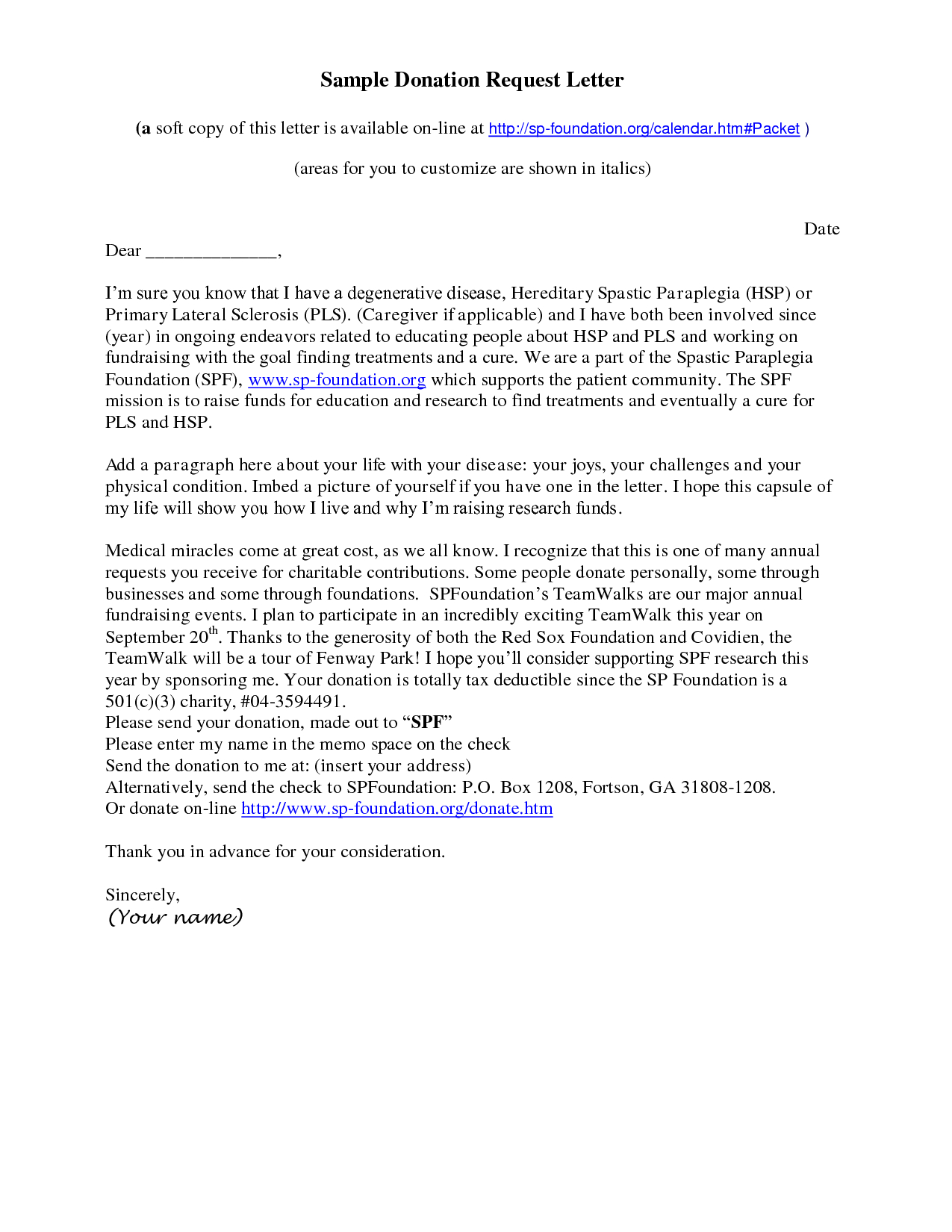 Fundraising Request for Donation Letter Template - How to Write A solicitation Letter for Donations Choice Image