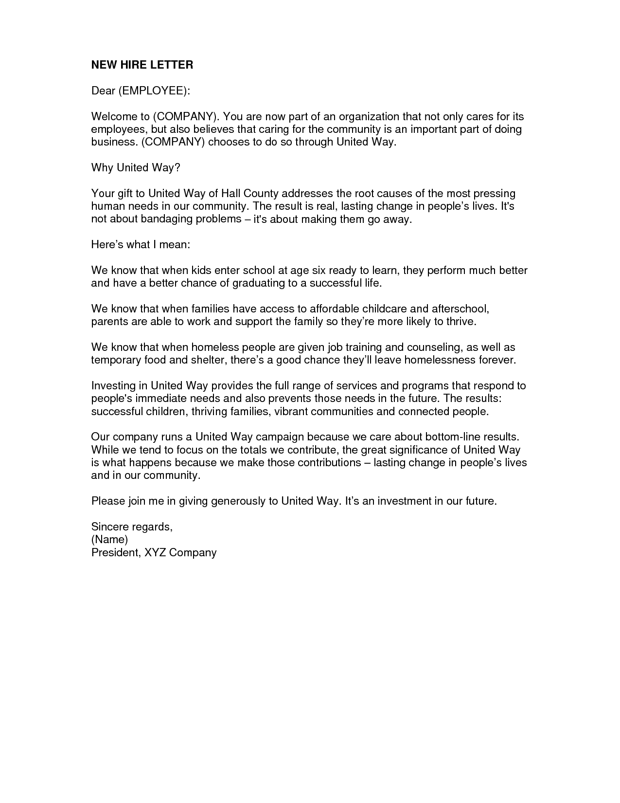 New Hire Welcome Letter Template - How to Write A Wel E Letter to A New Employee Letter