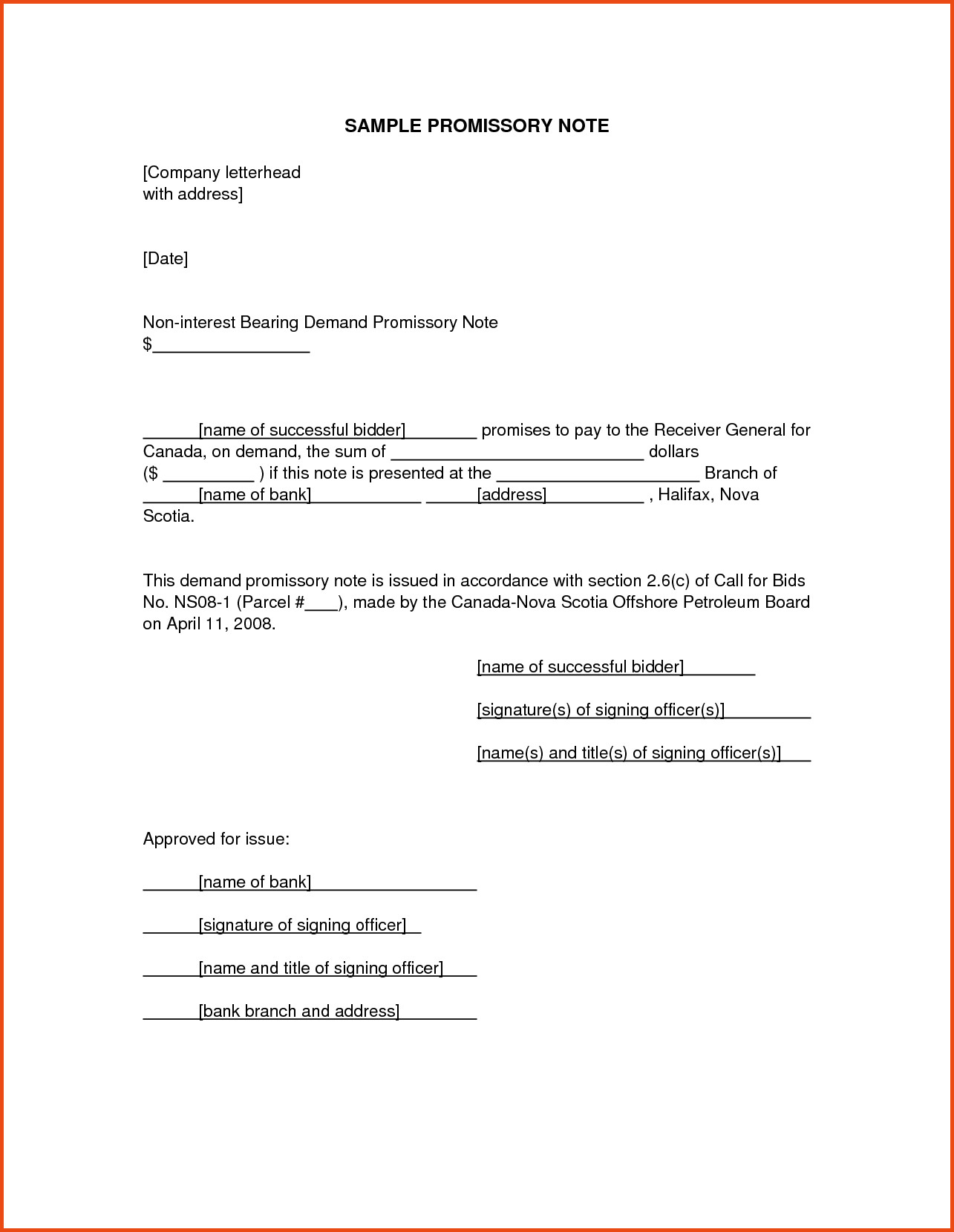 Demand letter promissory note template examples letter for Iou letter template