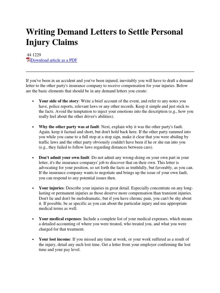 Personal Injury Demand Letter Template - How to Write Demand Letter Image Collections Letter format formal
