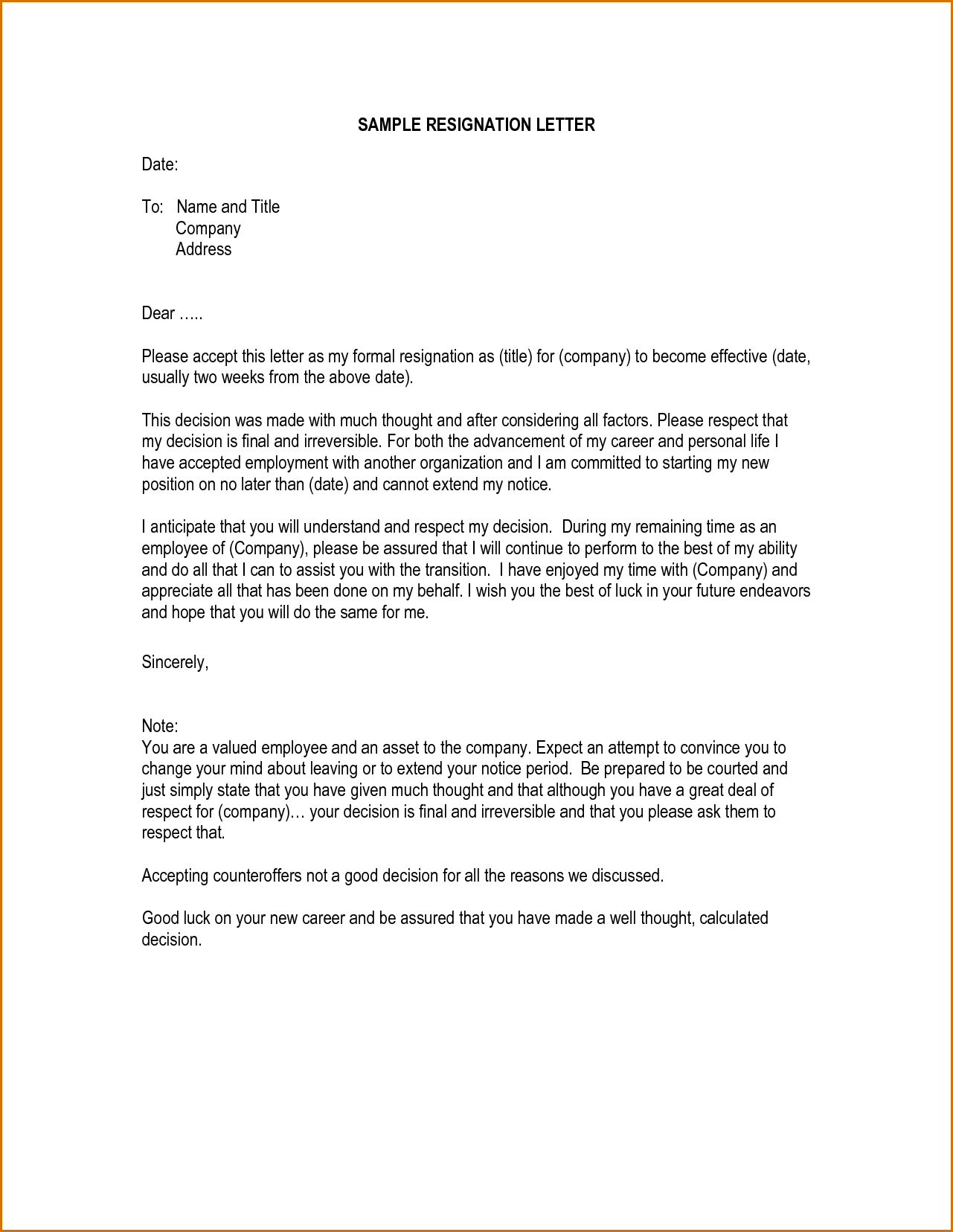 Writing A Resignation Letter Template - How Write Simple Resignation Letter Transvall Rzowxoq Best Tips for