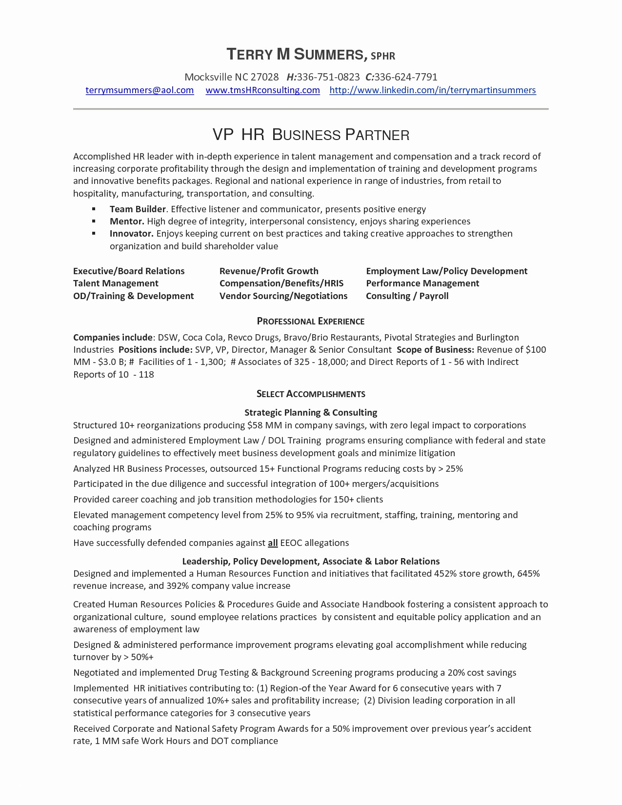 Hr Cover Letter Template - Hr Resume Examples Awesome Resume and Cover Letter Template Fresh