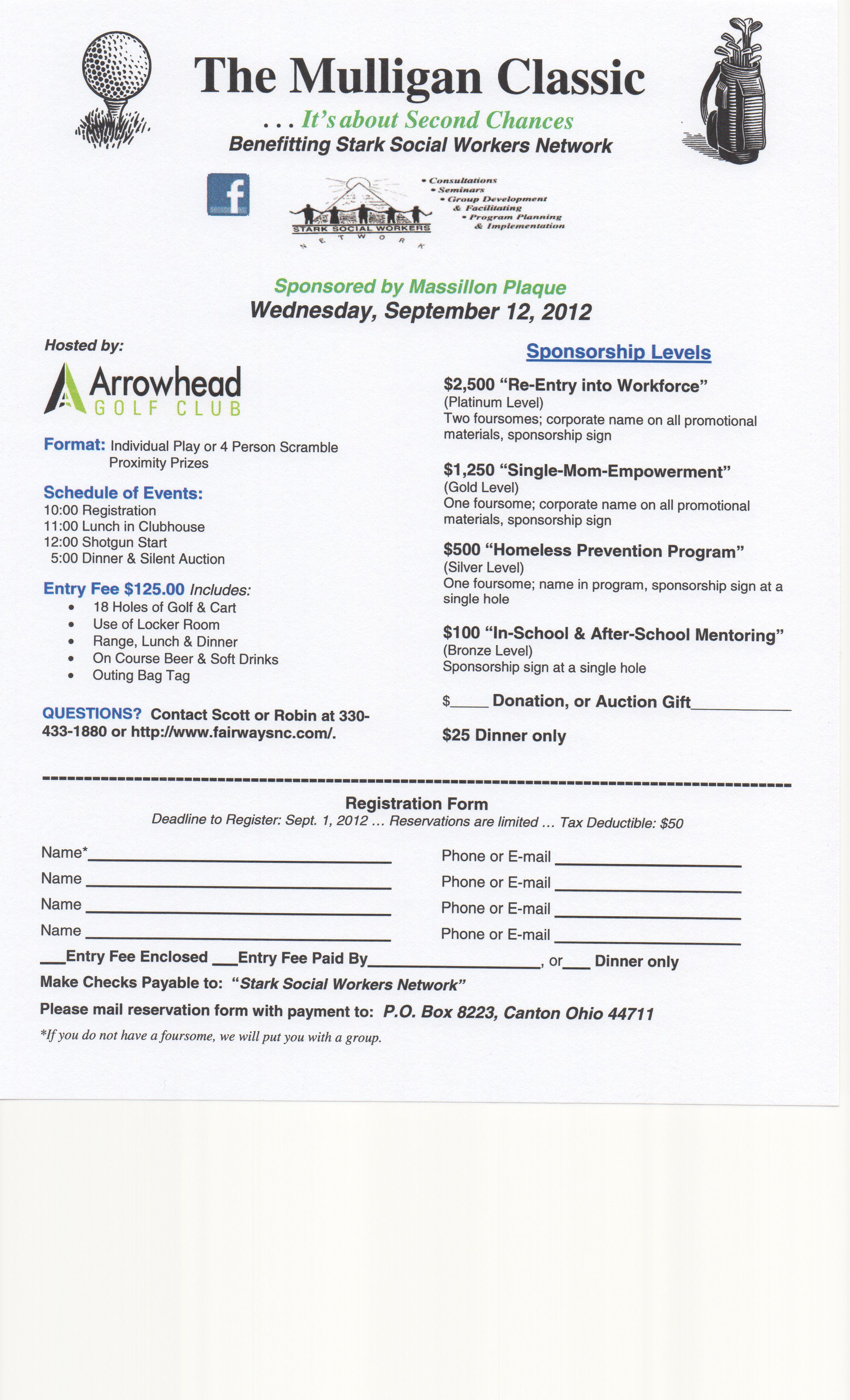 Golf tournament Sponsorship Letter Template - I M On A Mittee Planning something Called the Mulligan Classic