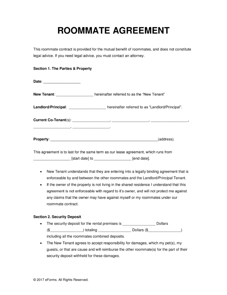 Roommate Eviction Letter Template - Image Result for College Roommate Agreement Template