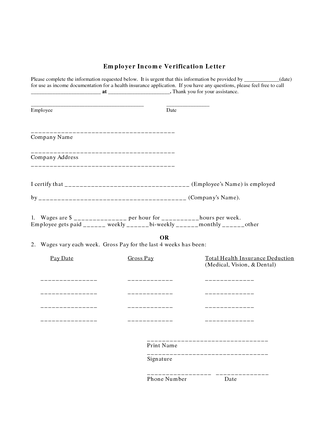 Employment Income Verification Letter Template - In E Reference Letter From Employer Image Collections Letter