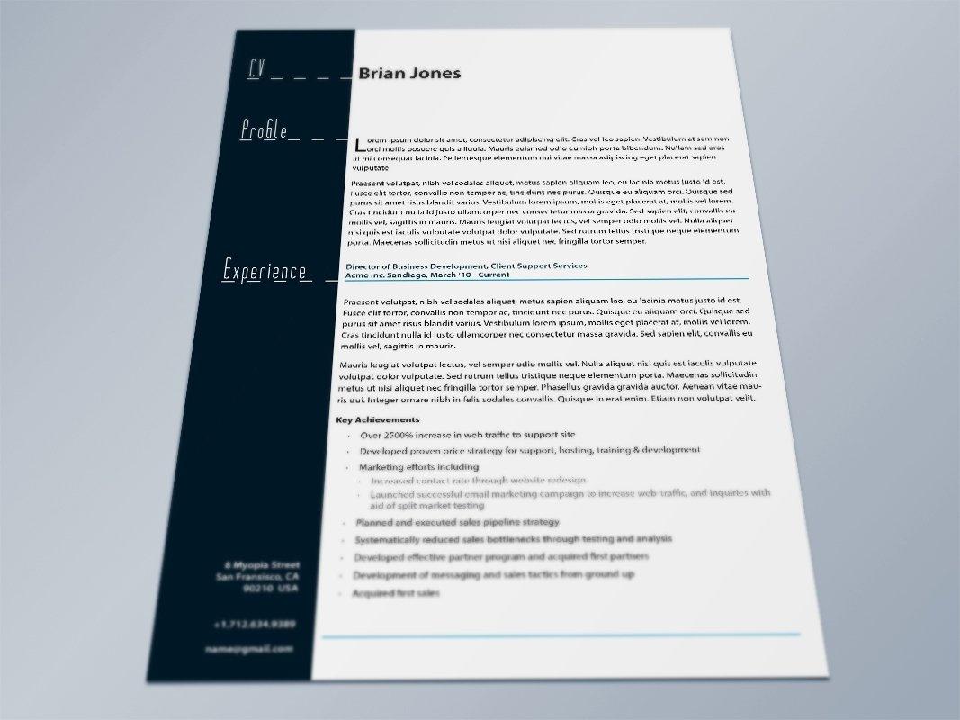 Indesign Letter Template - Indesign Resume Template Resume Cover Letter Template Throughout