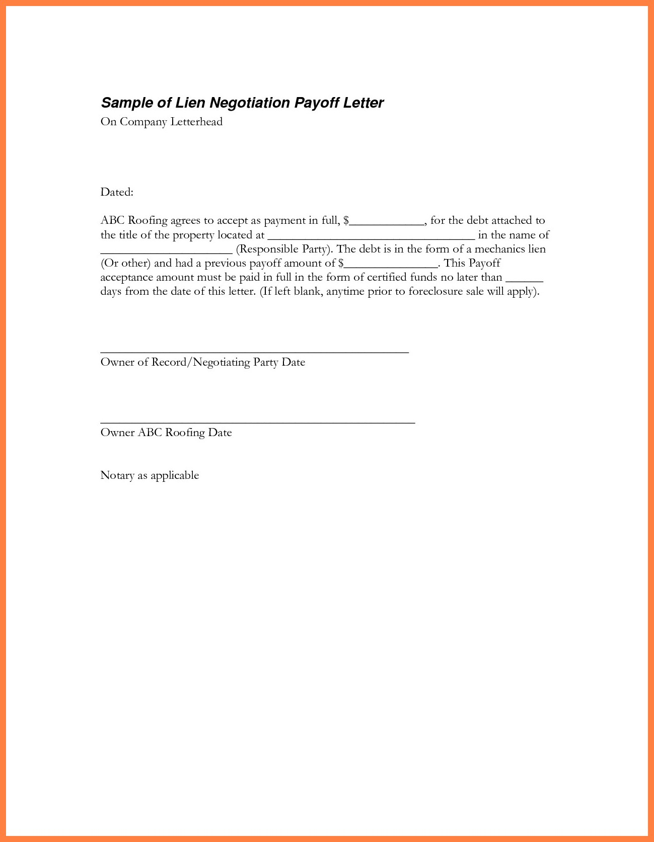 personal loan payoff letter template inspiration 9 best sample loan payoff letter form loan payoff