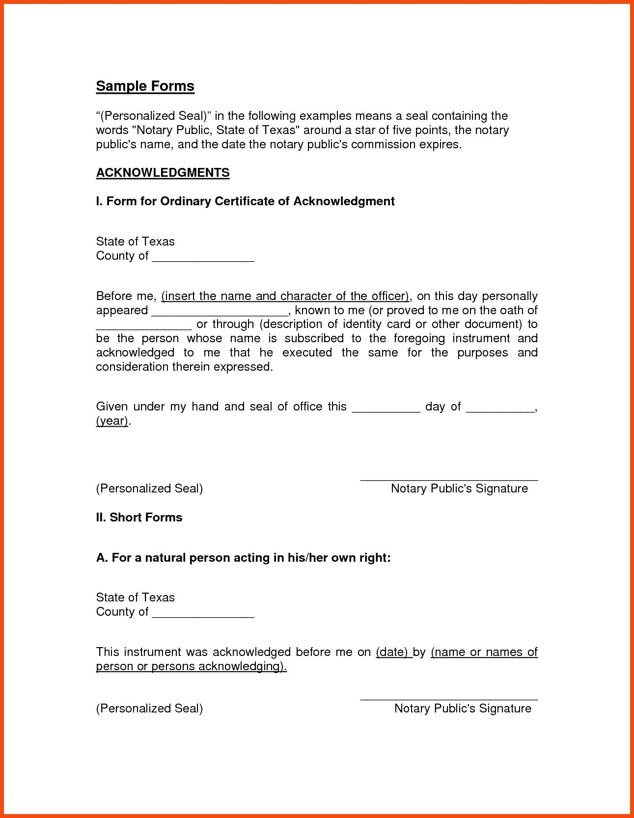 Notarized Letter Template Florida - Inspiration Example Notarized Letter Best Inspiration Best S