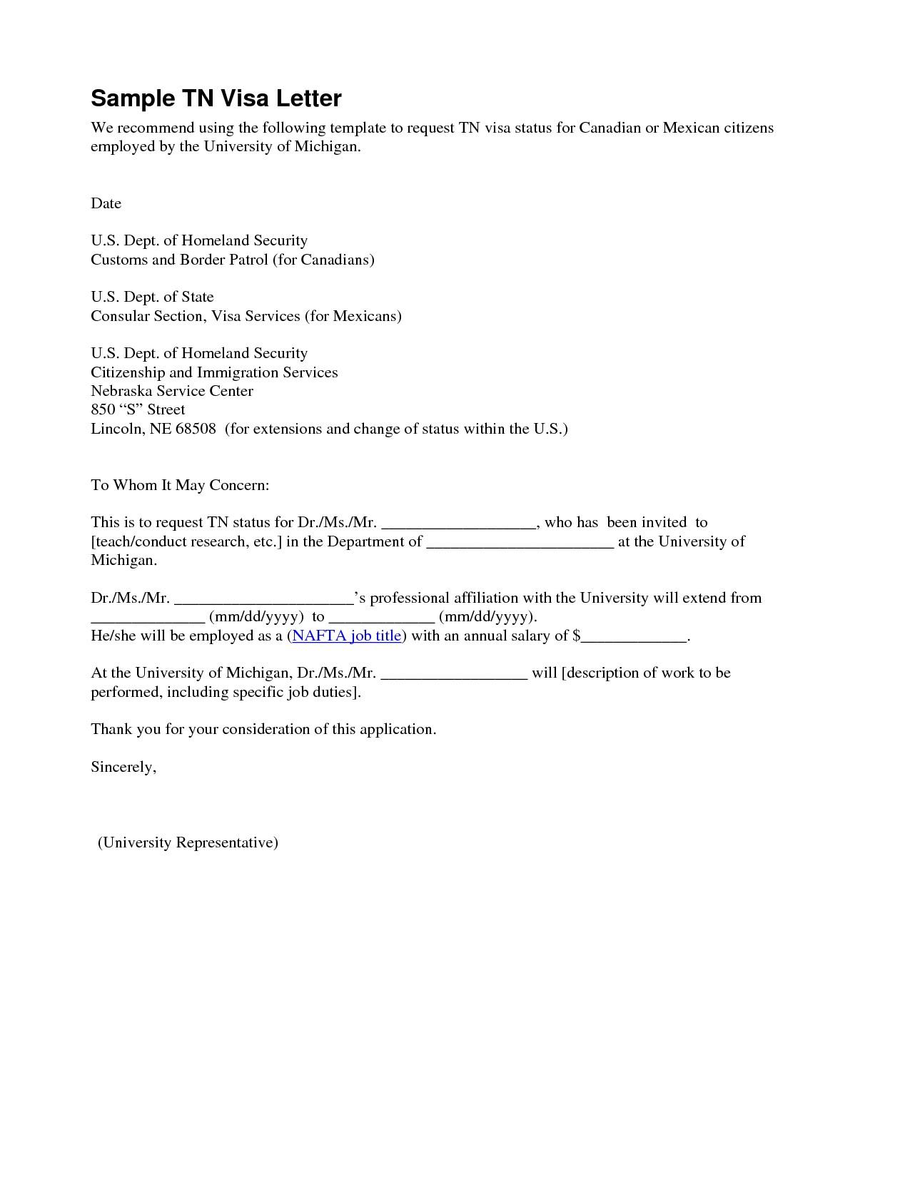 Tn Visa Offer Letter Template - Inspirationa Tn Visa Employer Letter Example