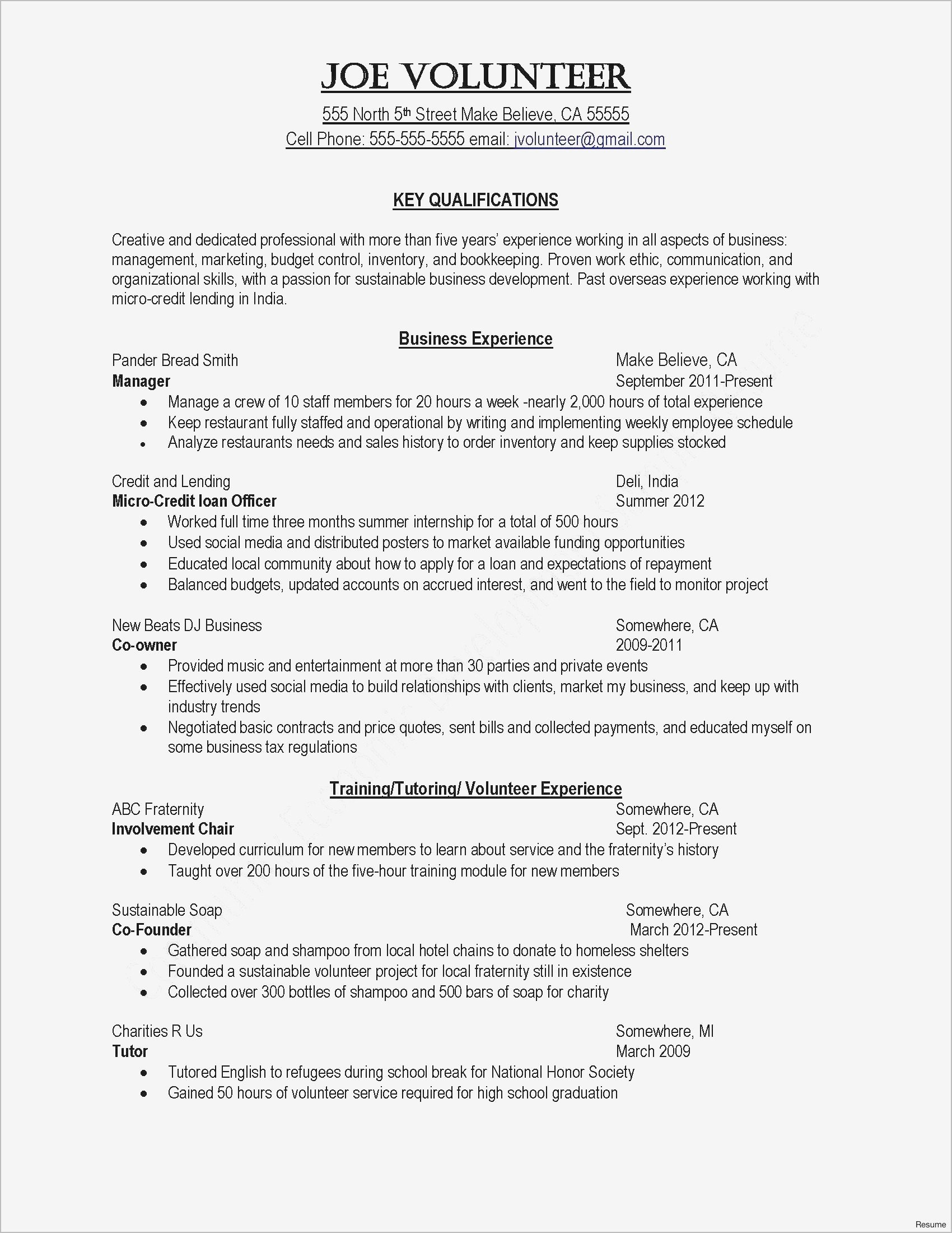 Business Letter Template - Inspirational Cover Letter Template