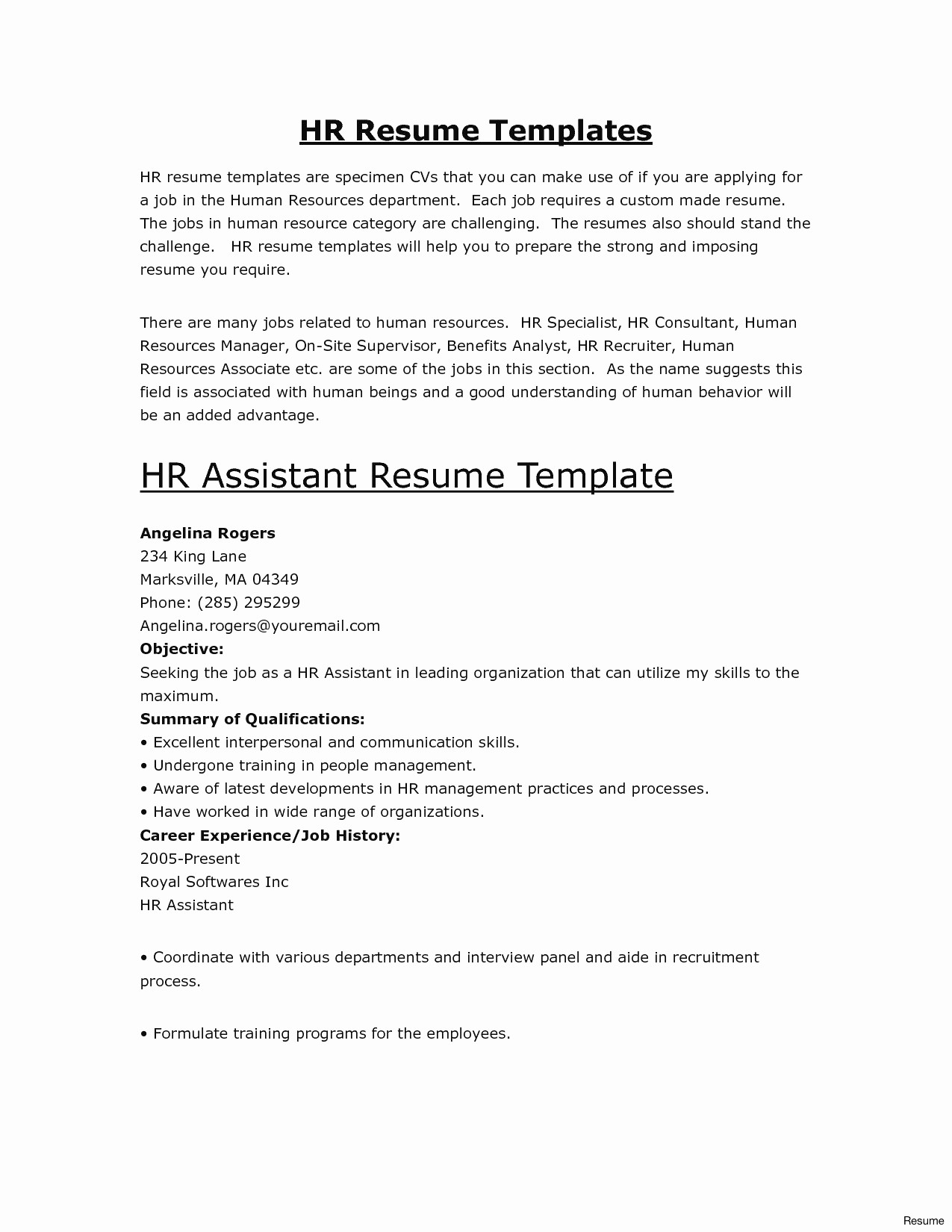 Employment Verification Letter Template Word Examples