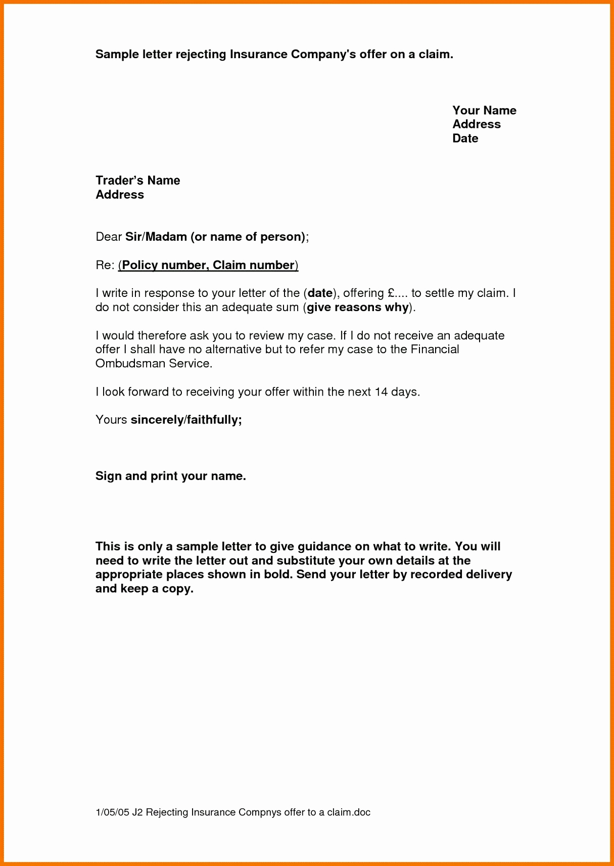 insurance renewal letter template  Exceptional Homeowners Insurance Non Renewal Letter – Letter ...