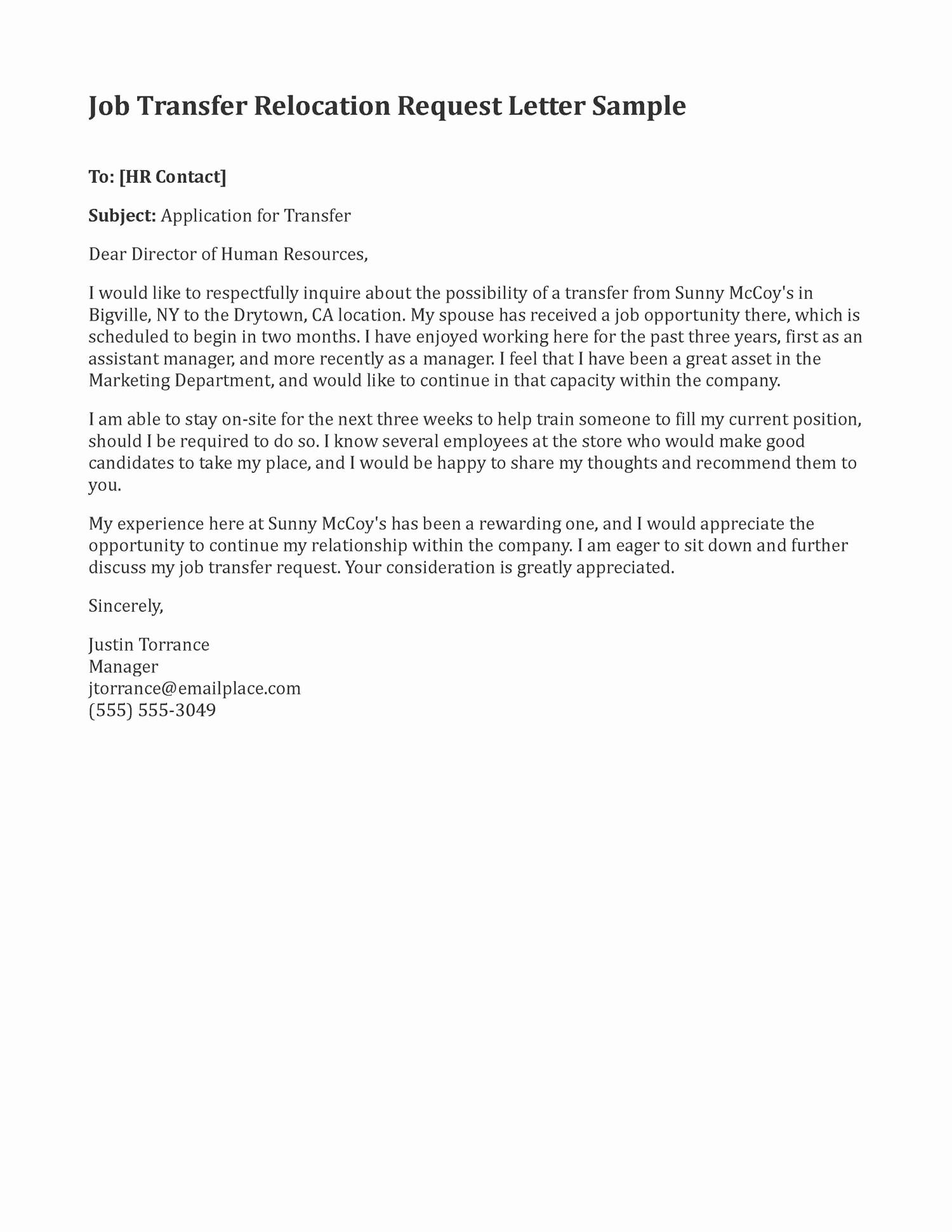 Transfer Letter Template - Internal Job Posting Template Word Awesome Internal Transfer Letter