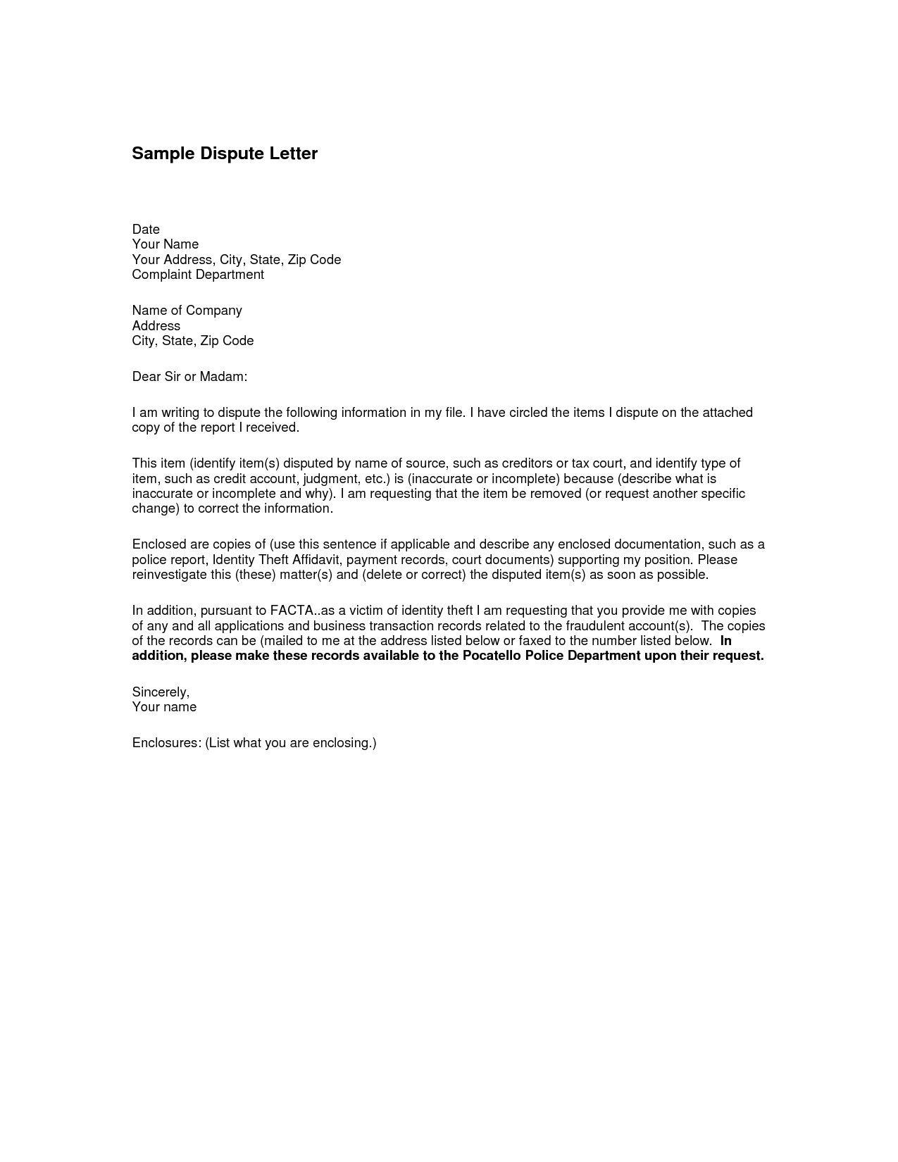 Dispute Letter Template - Invoice Dispute Letter Awesome How to Write An Excellent Resume Rfp