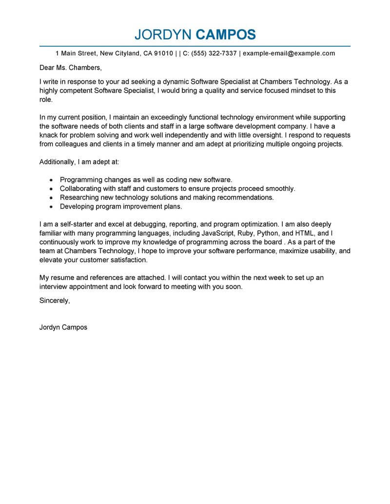 Business Development Cover Letter Template Samples | Letter Template ...