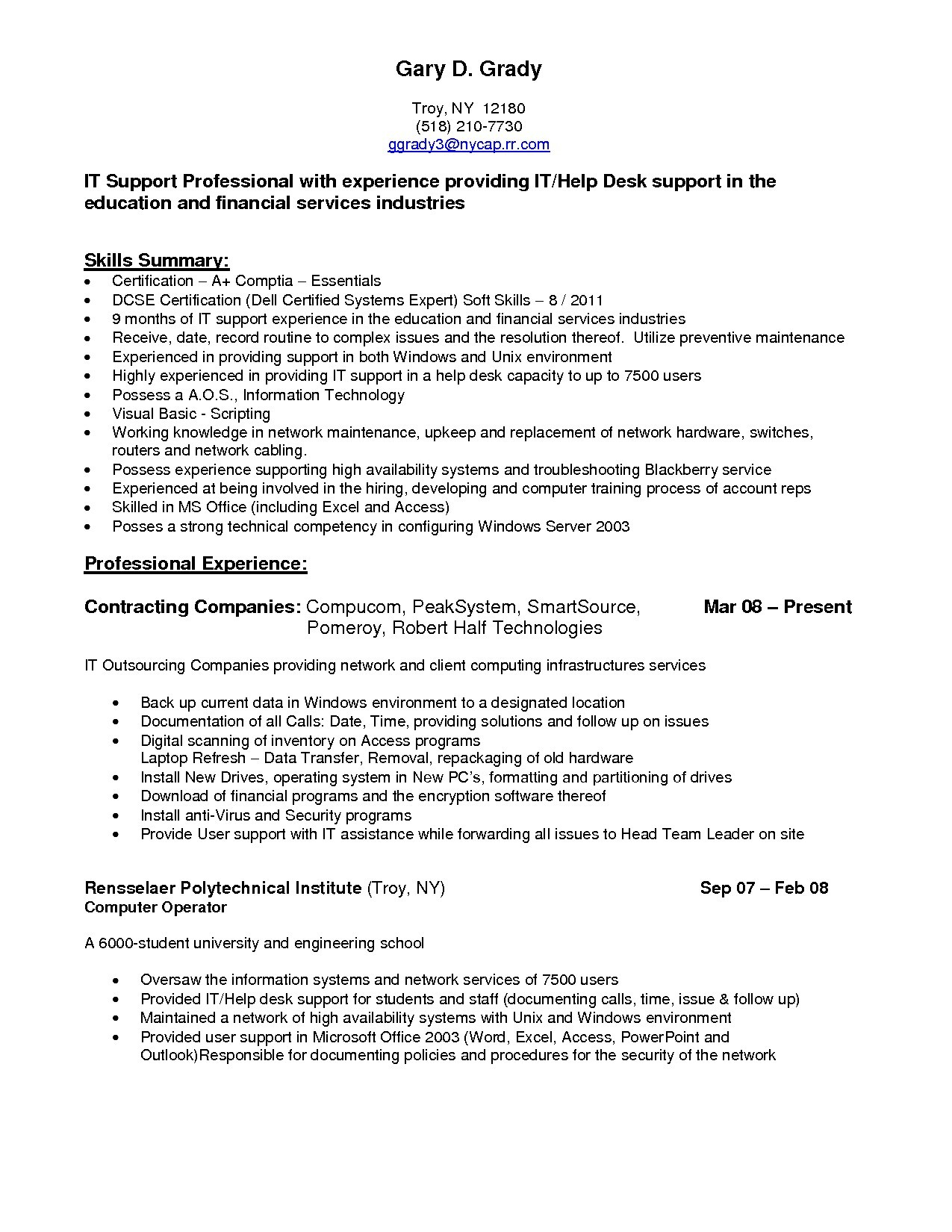 Email Letter Template - It Support Resume Lovely Awesome Sample College Application Resume