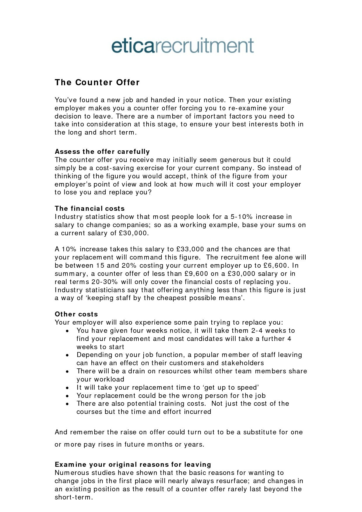 Employment Counter Offer Letter Template - Job Counter Fer Letter Best Sample Salary Negotiation Counter Fer