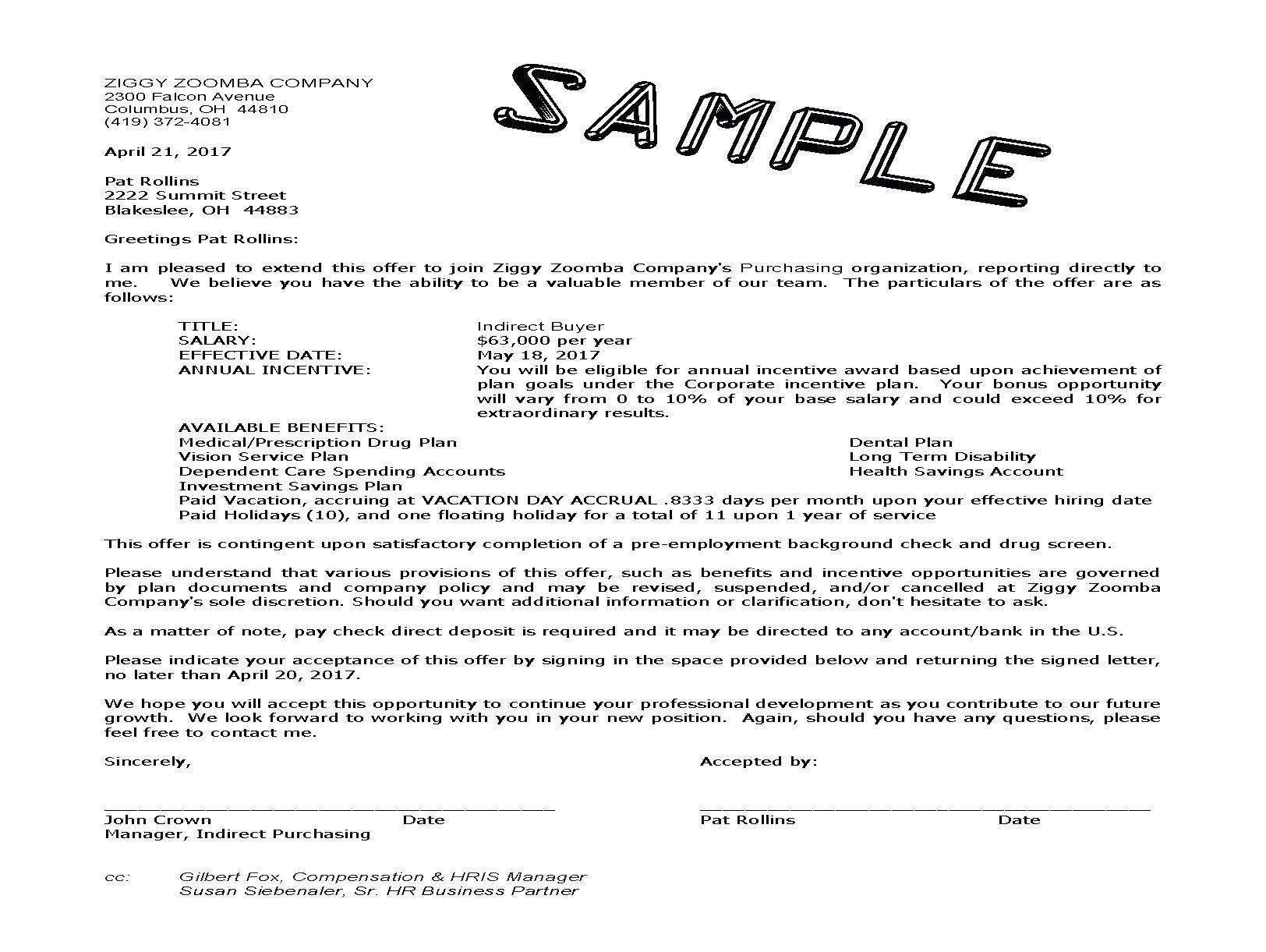 Employment Counter Offer Letter Template - Job Fer Letter Template Us Copy Counter Fer Letter Sample