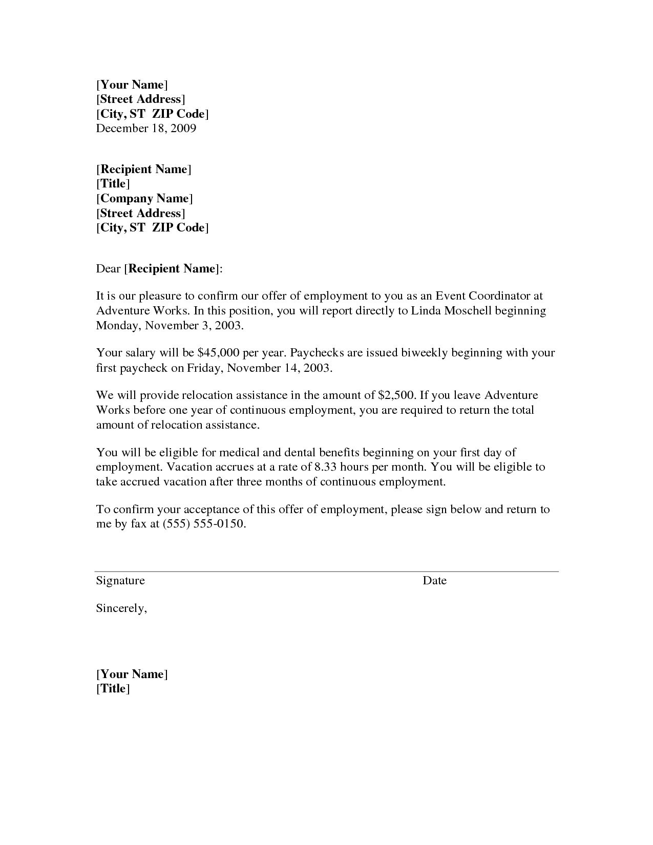 Temp to Perm Offer Letter Template - Job Transfer Letter From Employer Save Appointment Letter Template