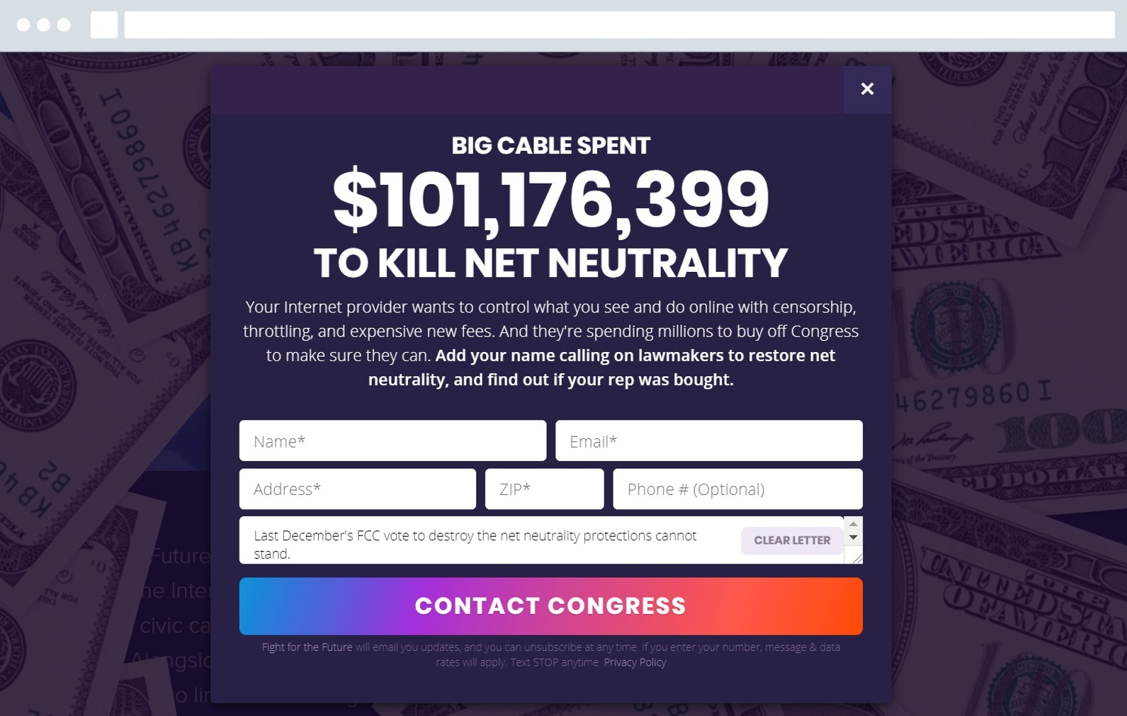 Net Neutrality Letter Template - Join the Battle for Net Neutrality