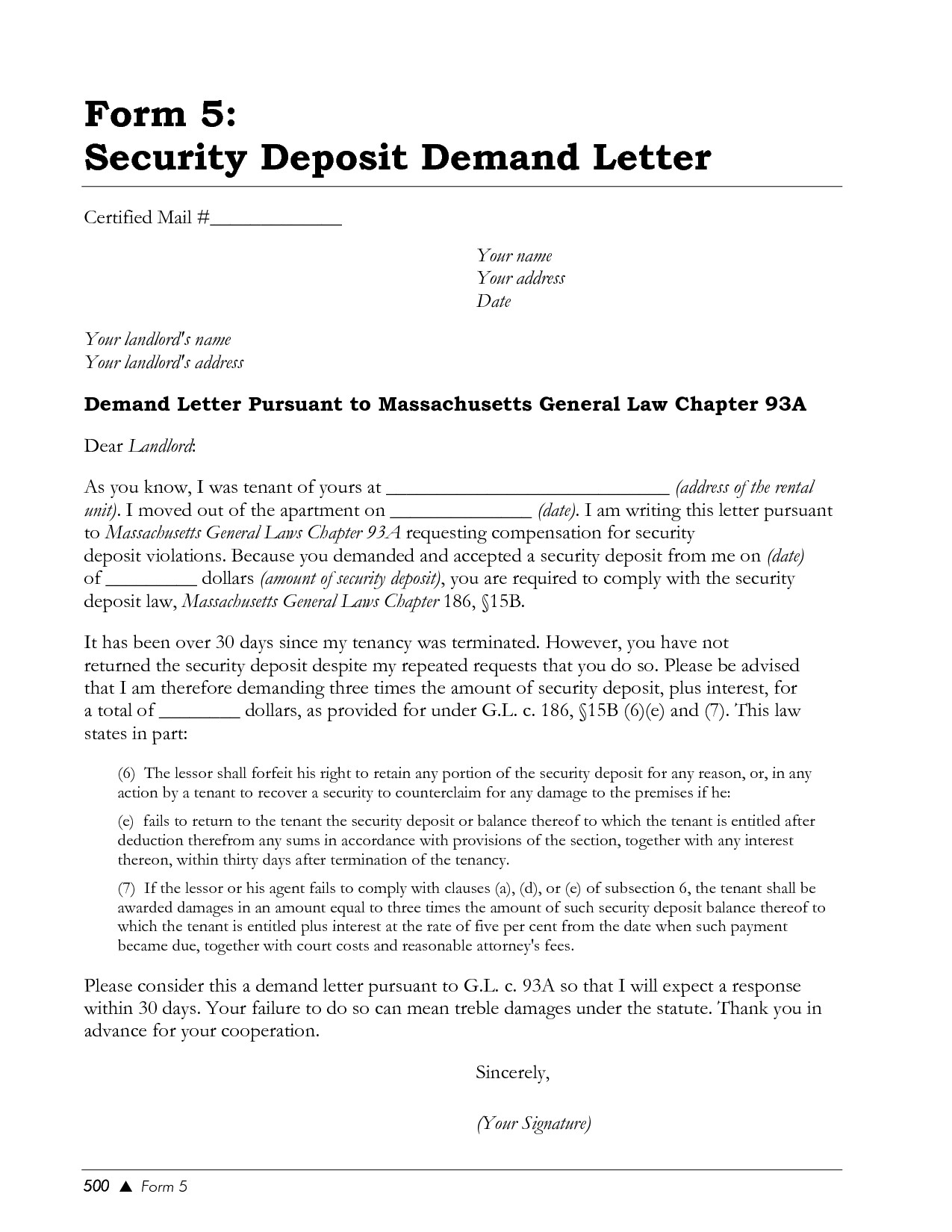 Security Deposit Demand Letter Template - Landlord Letter Returning Security Deposit Sample Demand Elemental